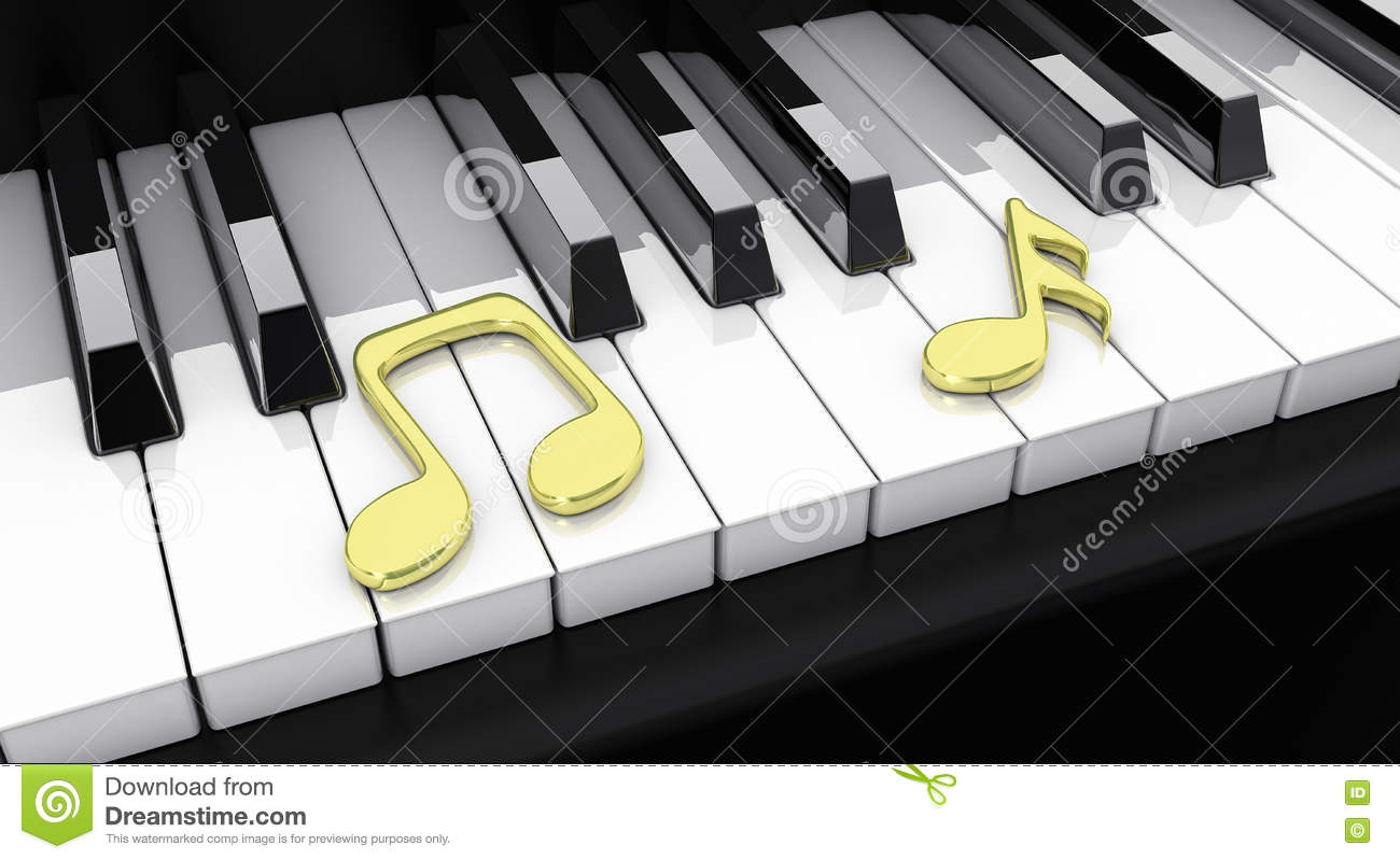Piano With Notes Stock Illustration Illustration Of Pianos 71145497