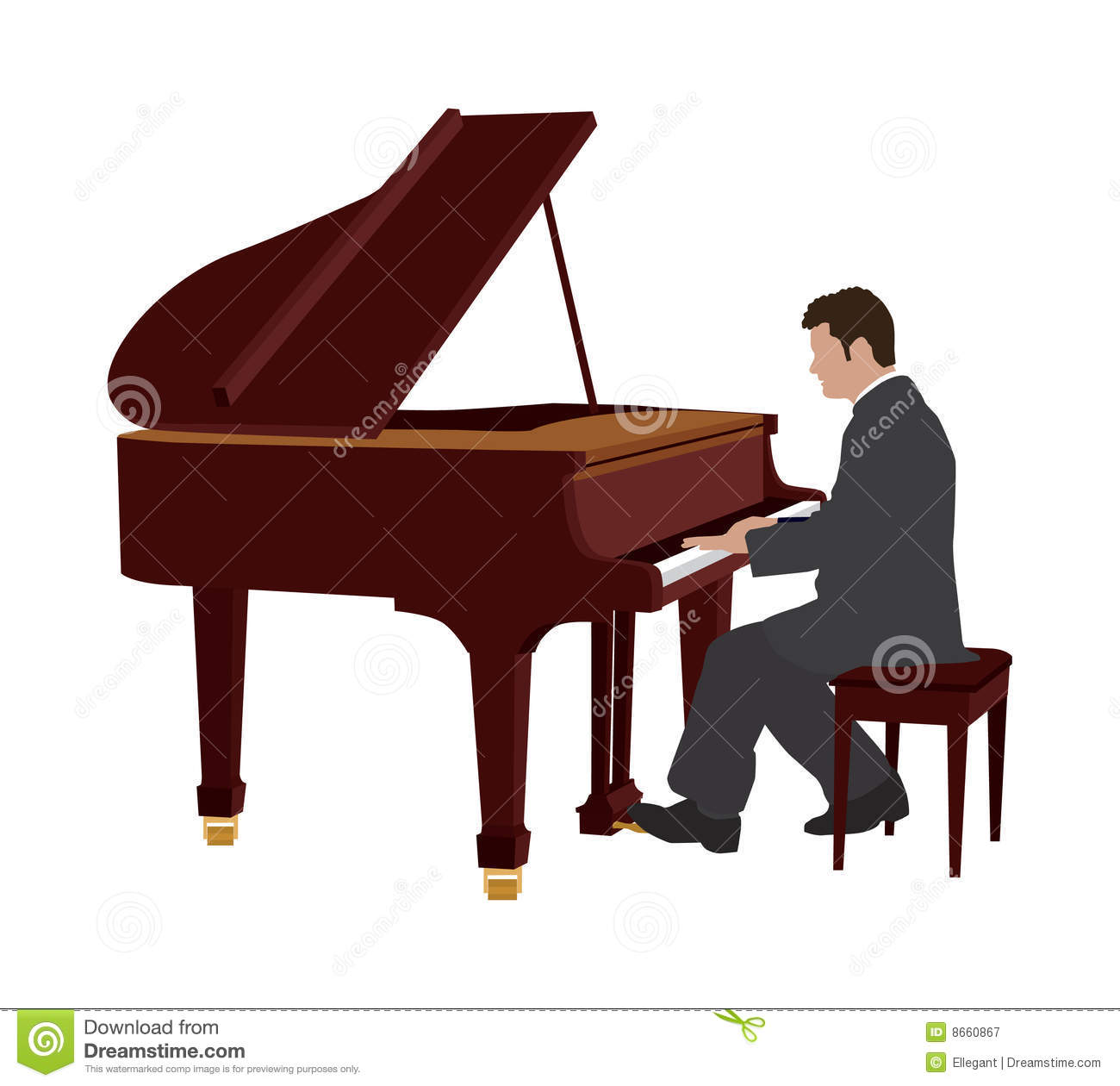 Piano Player Royalty Free Stock Photography - Image: 8660867
