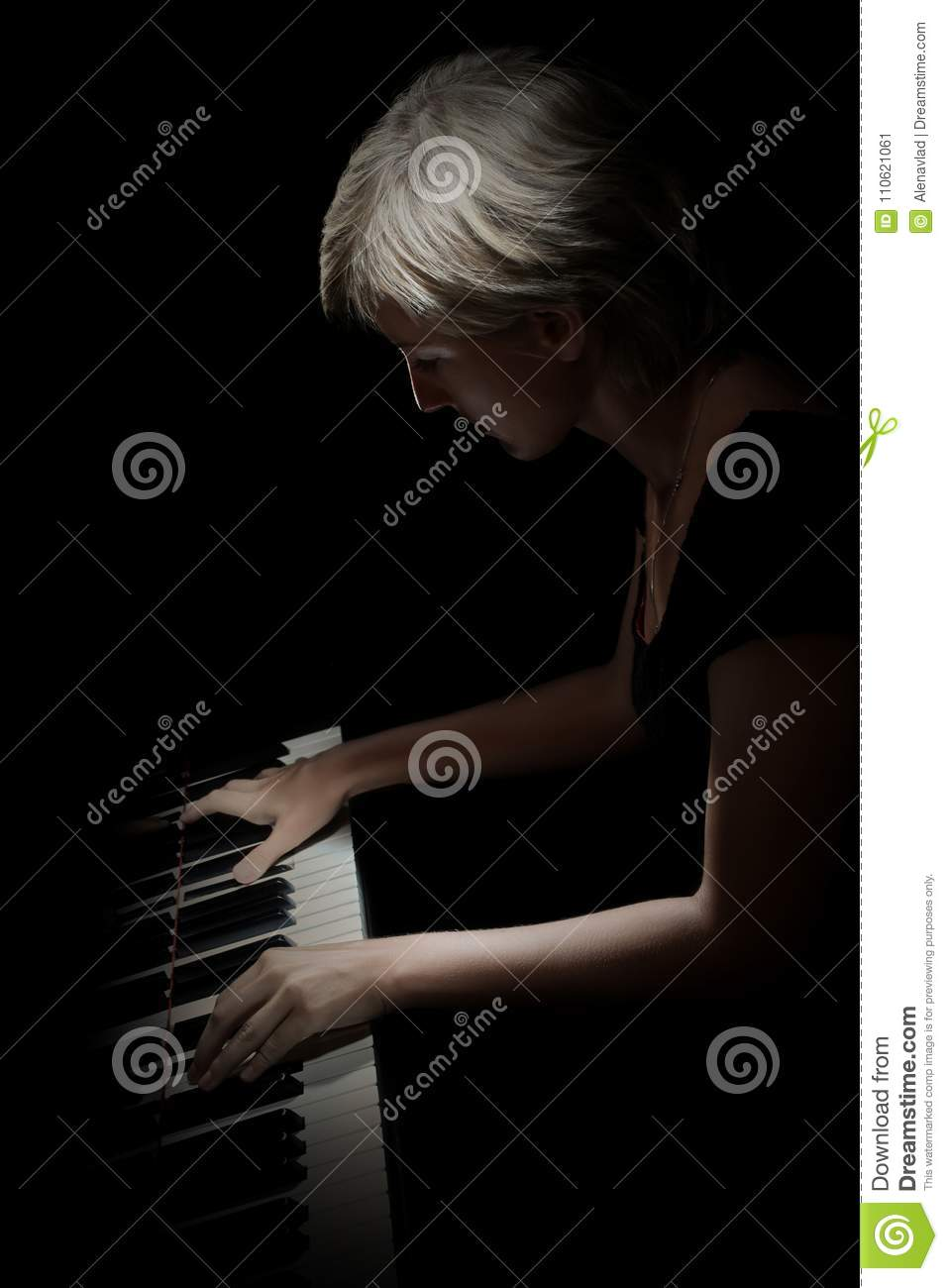 Piano Player  Pianist Playing Piano Stock Image - Image of keys