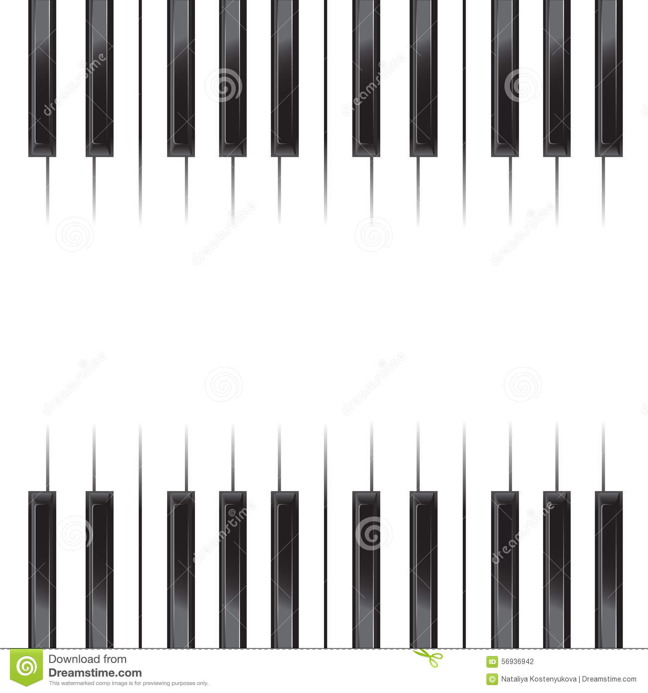 keyboard overlay template - piano poster stock vector image 56936942
