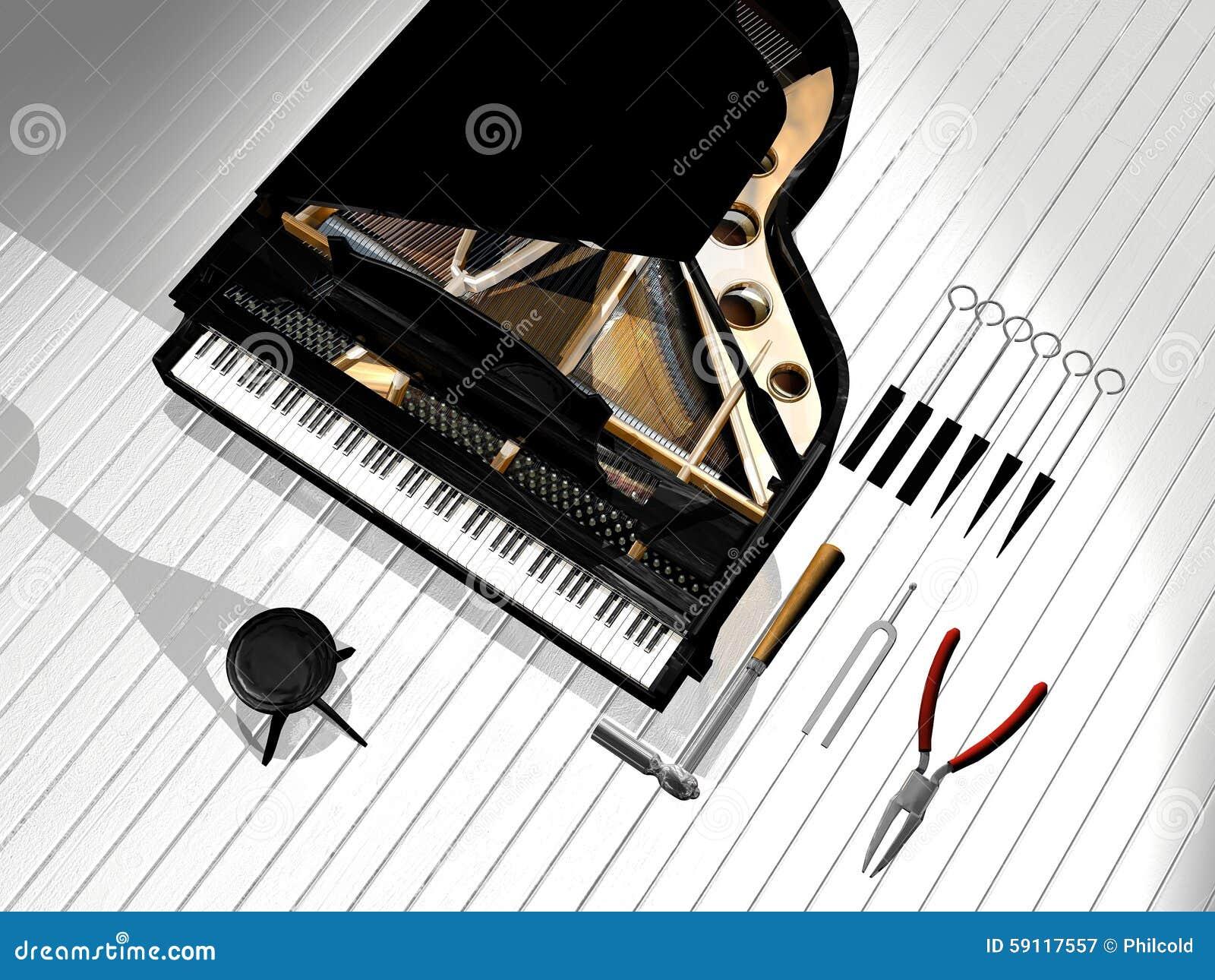 piano repair business card stock illustration  image: 59117557