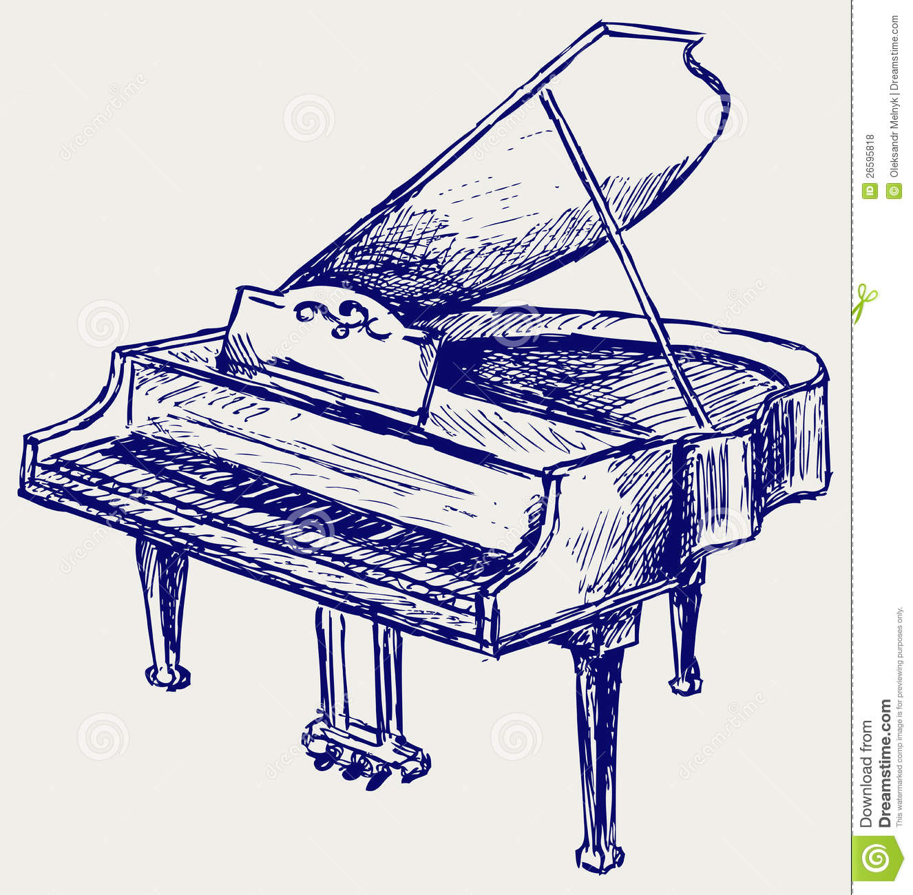 Piano Sketch Royalty Free Stock Photos - Image: 26595818