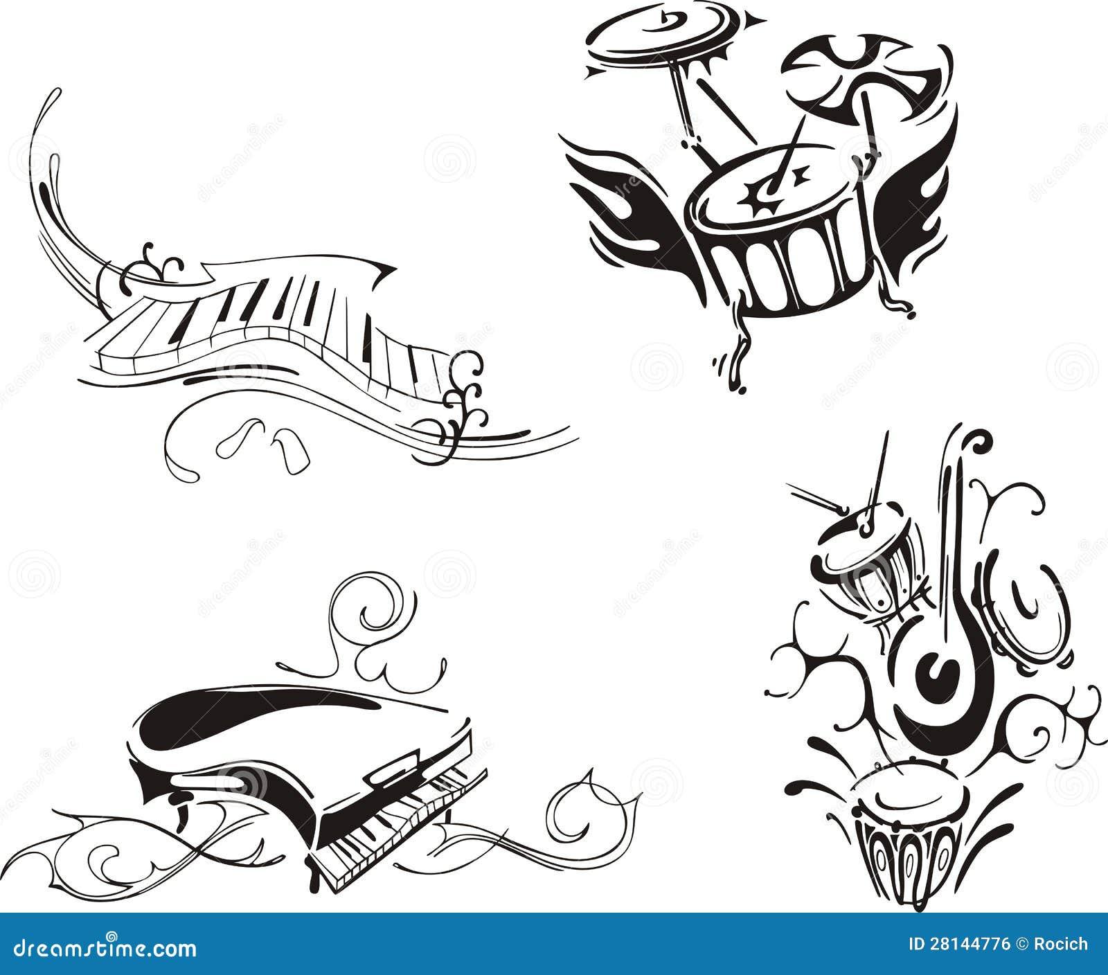 Piano stilizzato e percussione immagine stock libera da for Disegno di piano domestico