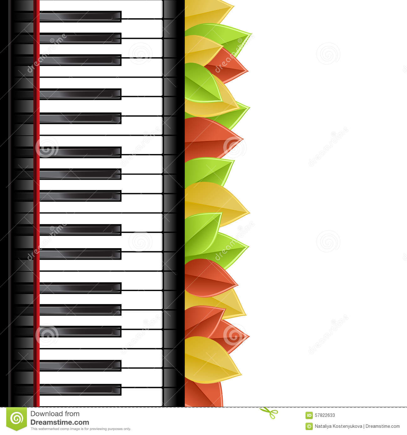 Piano Template Stock Vector Illustration Of Poster Pattern