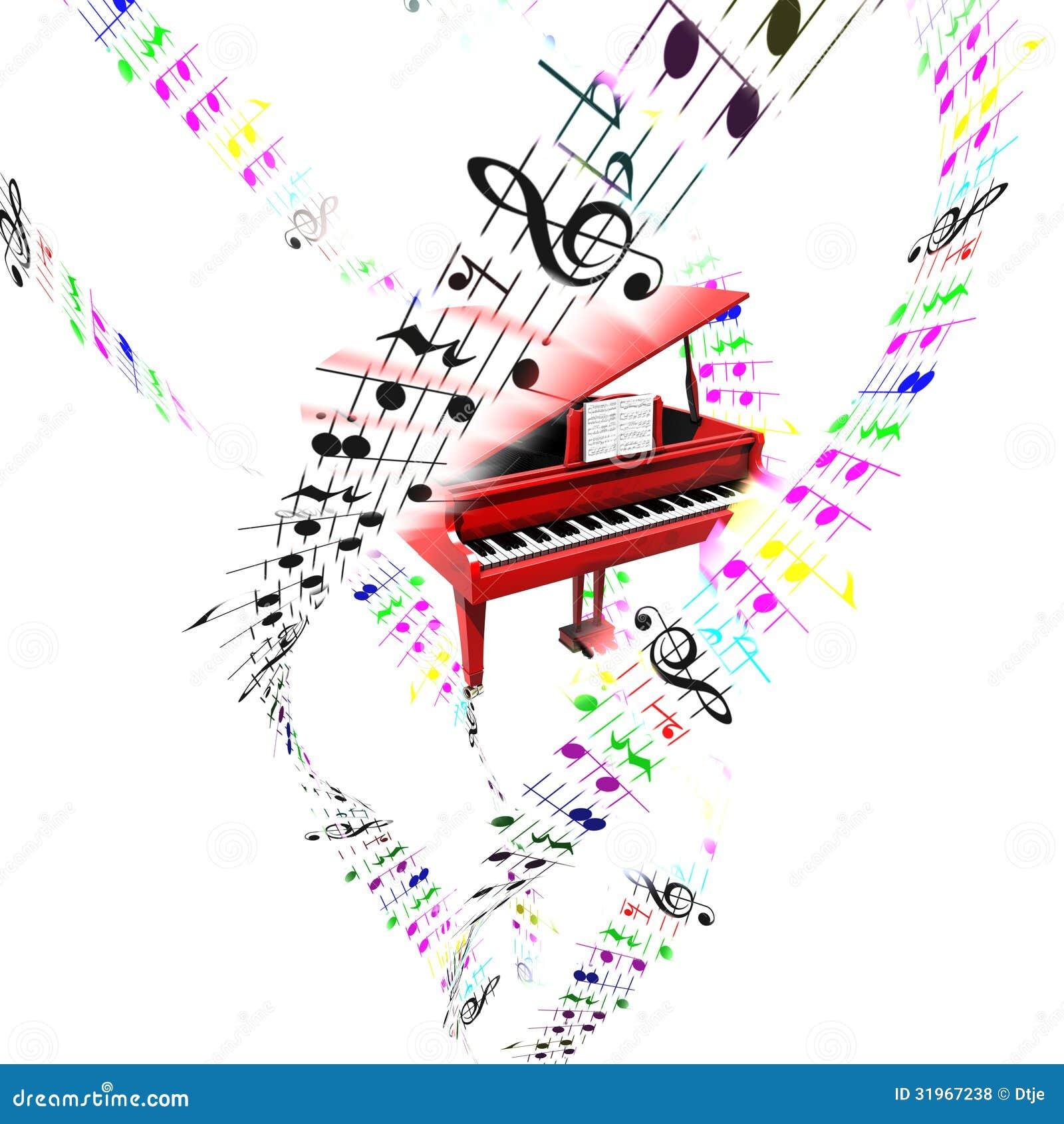 Pianoforte a coda con la divisione volante colorata for Strumento online gratuito piano piano