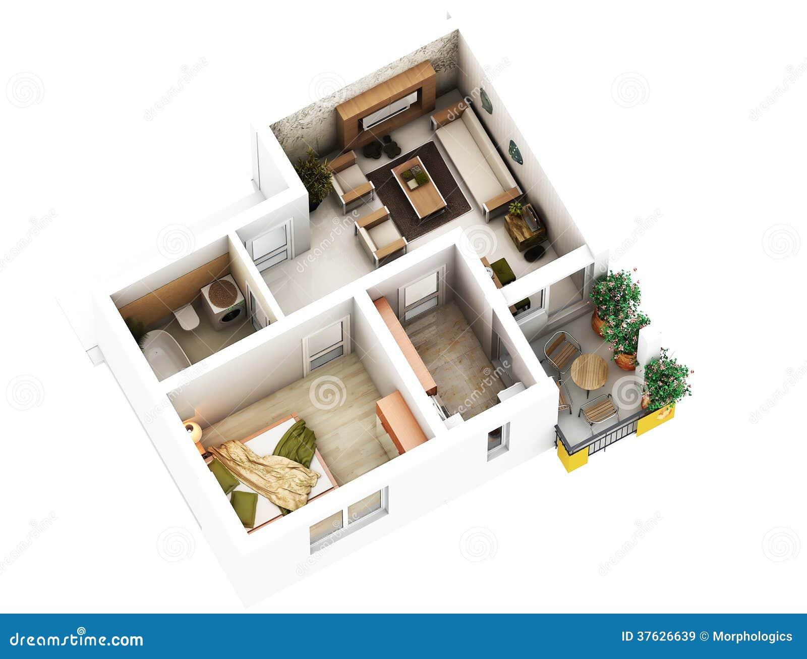 Pianta 3d illustrazione di stock illustrazione di for Foto di case a pianta aperta