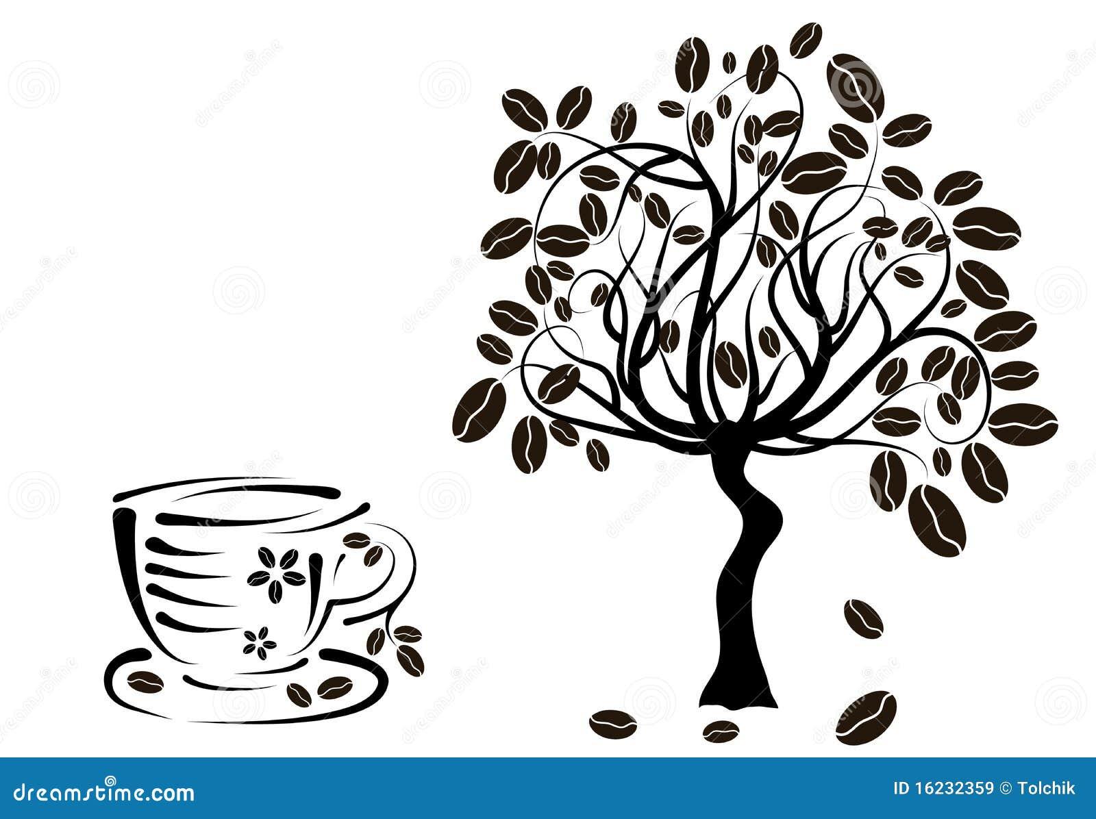 Immagini stock libere da diritti: pianta del caffè in una tazza