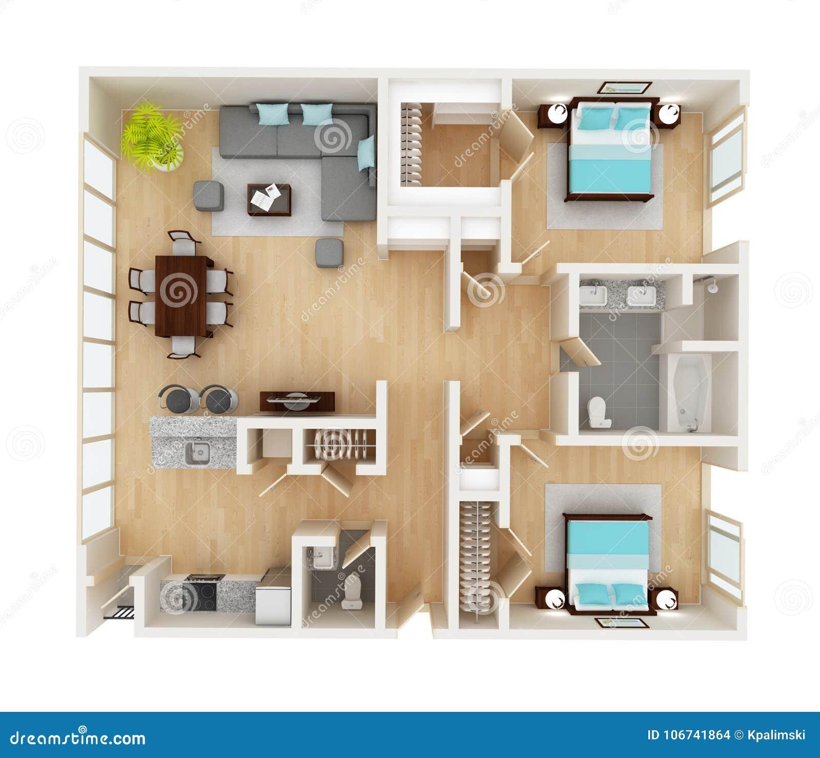 Pianta di una vista superiore della casa illustrazione di for Pianta di una casa