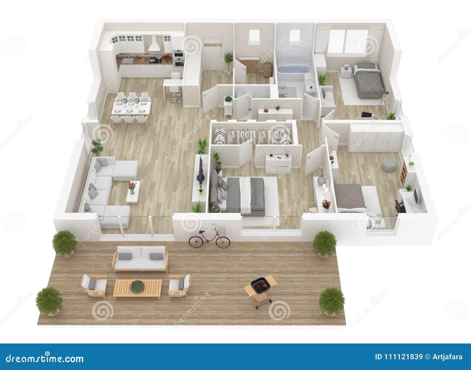 Pianta di una vista superiore della casa apra la for Programma piantina casa