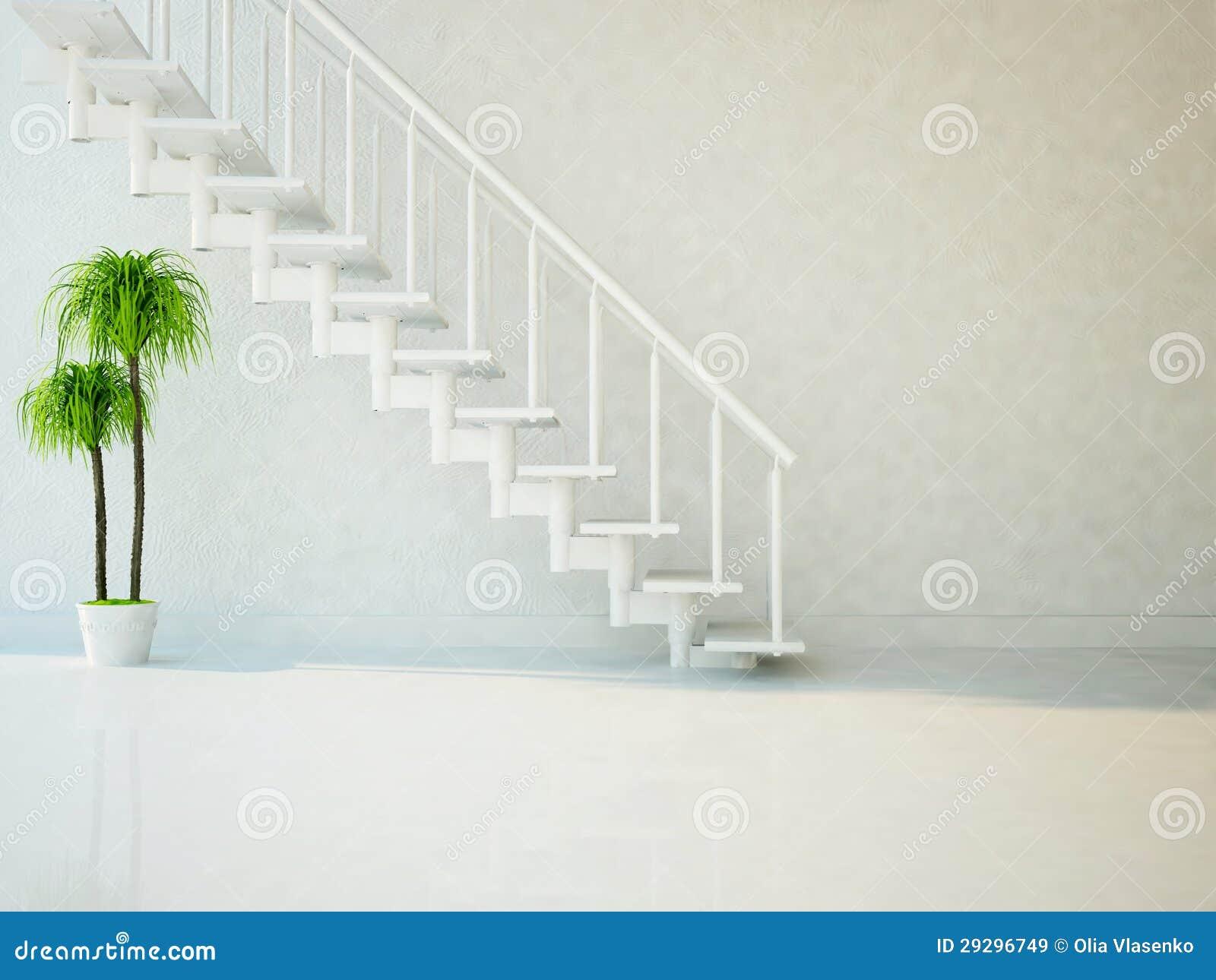 Pianta verde sotto le scale immagini stock libere da for Pianta da pavimento verde
