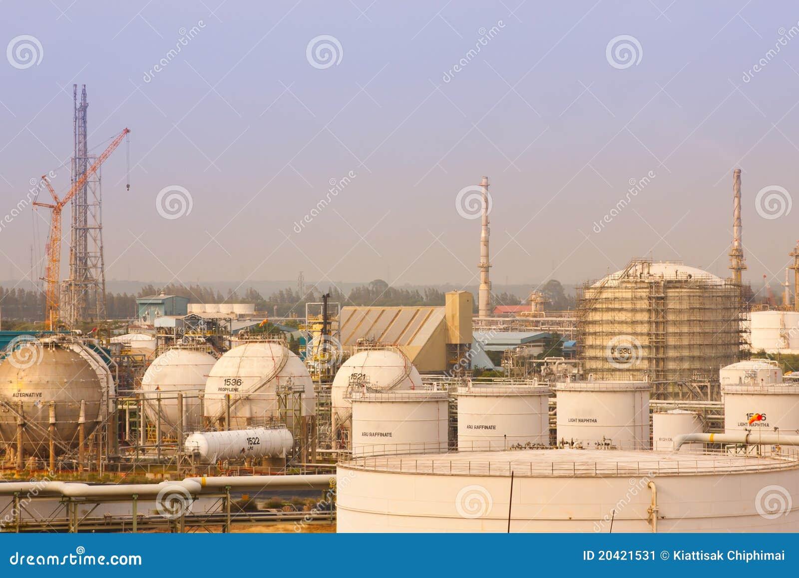 Piante di raffinerie del gas