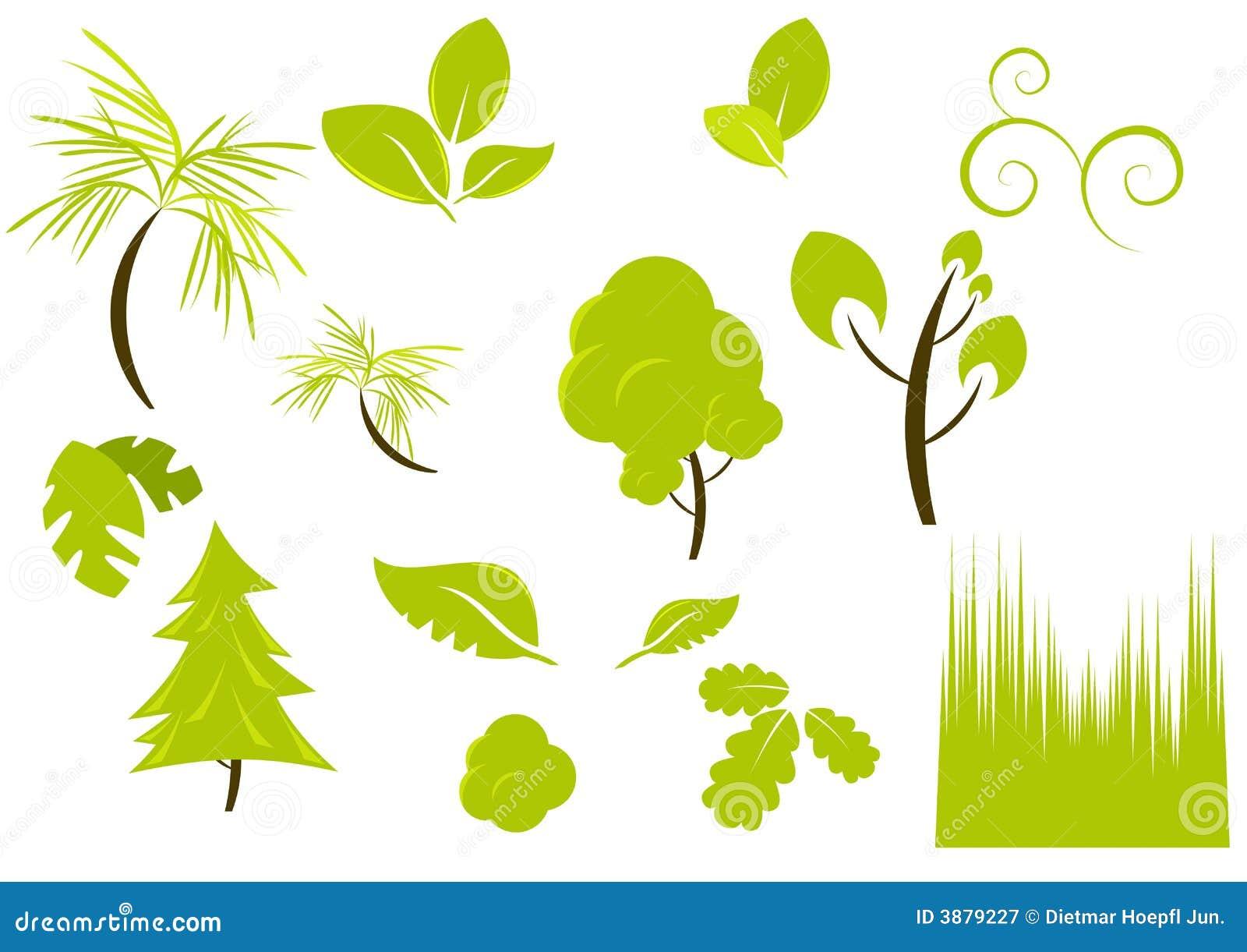 Piante E Disegni Della Vegetazione Fotografia Stock Libera ...