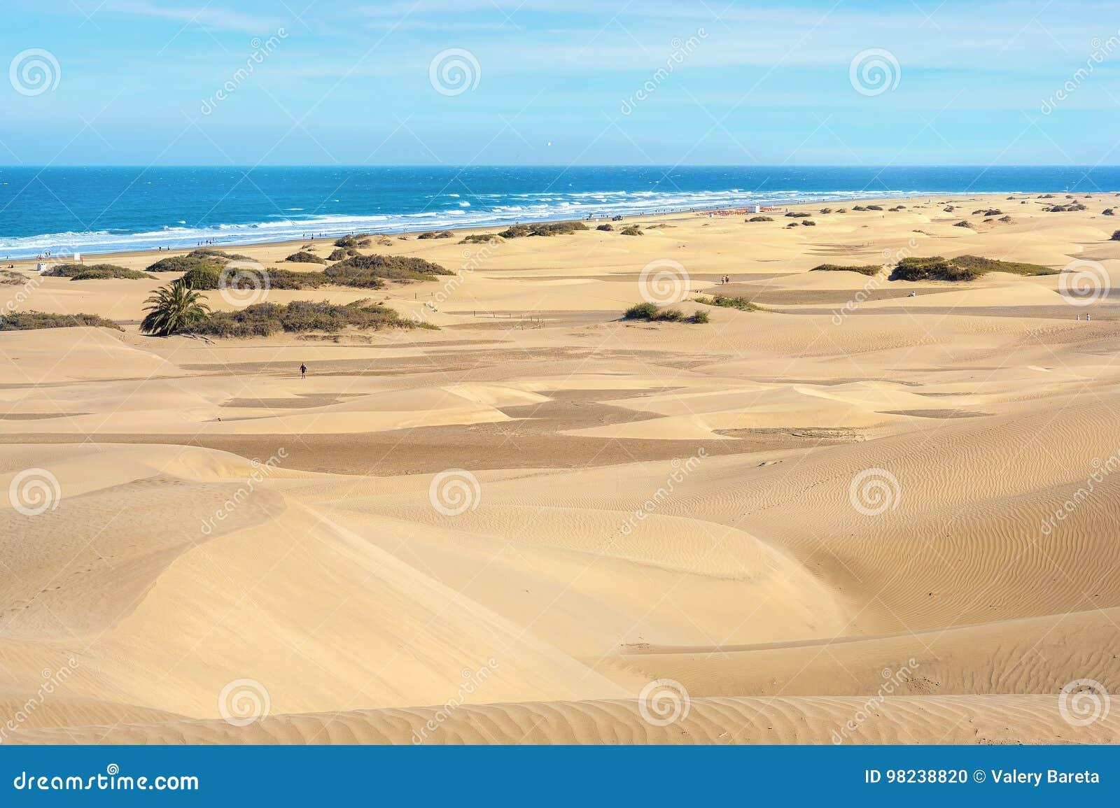 Piasek diuny maspalomas gran canaria wyspa kanaryjska Spain