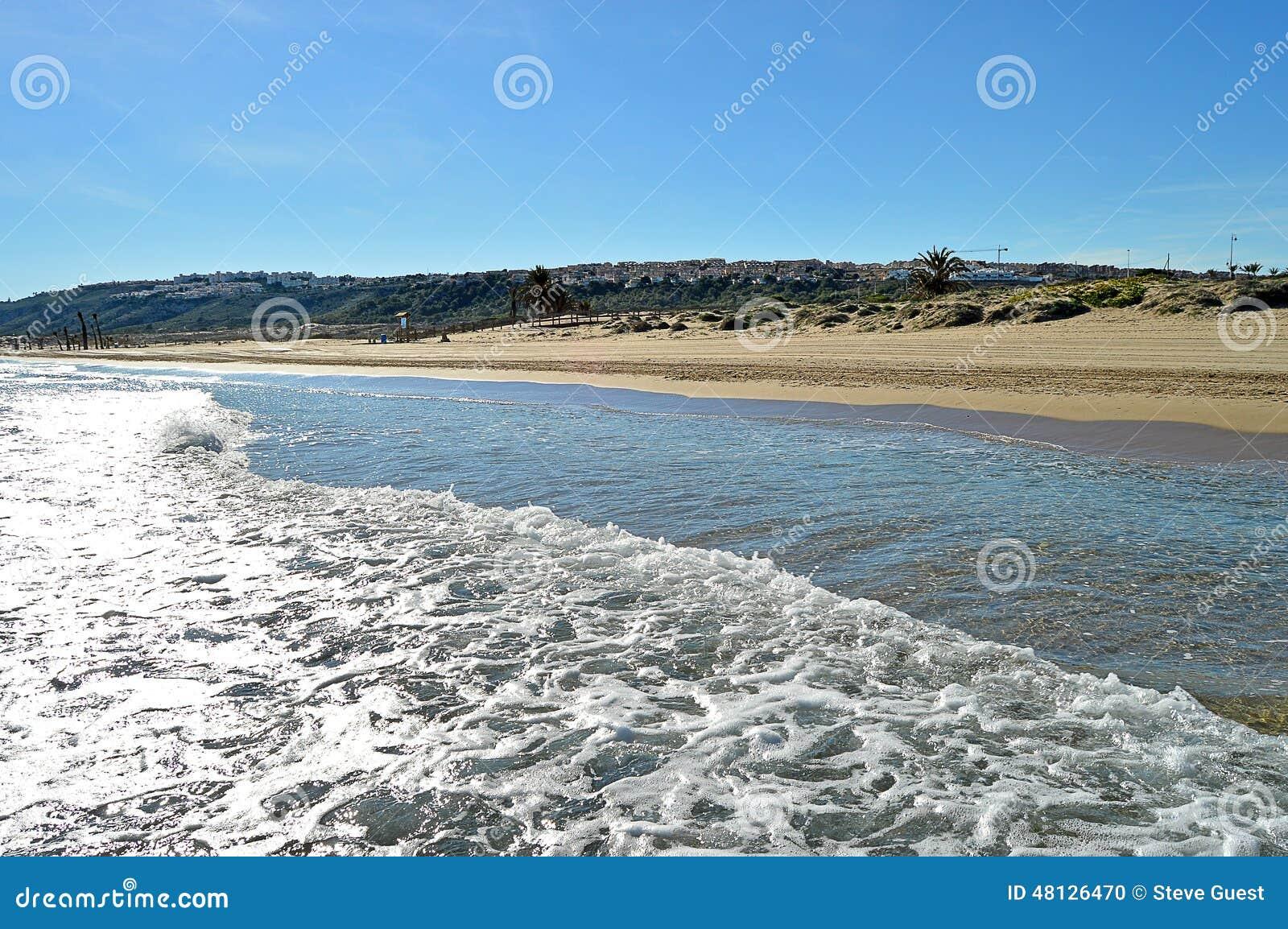 Piasek diuny W Granie Alacant Hiszpania