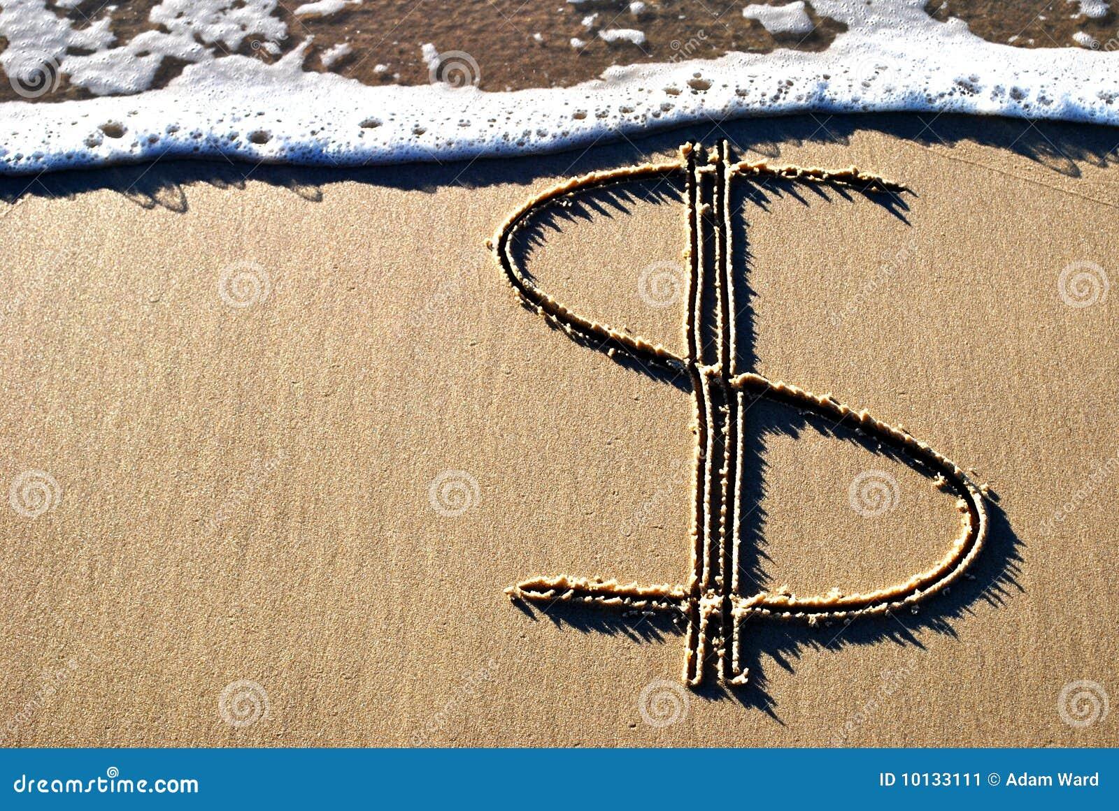 Piaska dolarowy znak