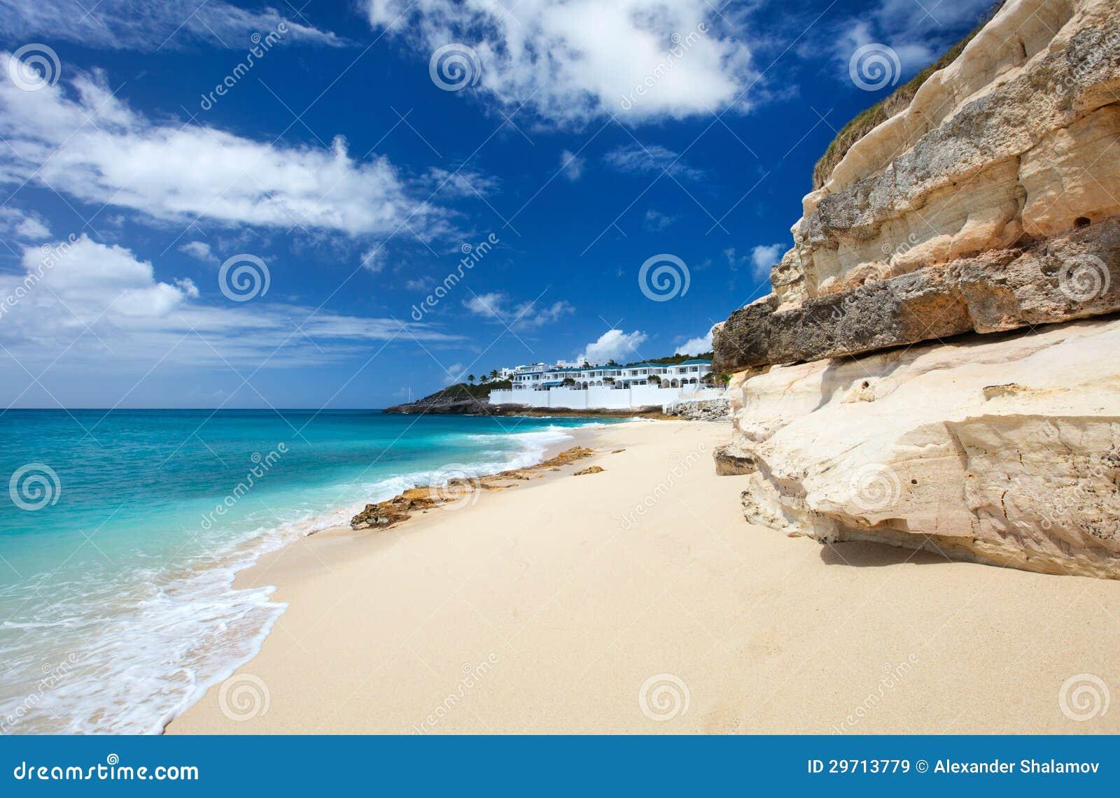 Cupecoy plaża na St Martin Karaiby