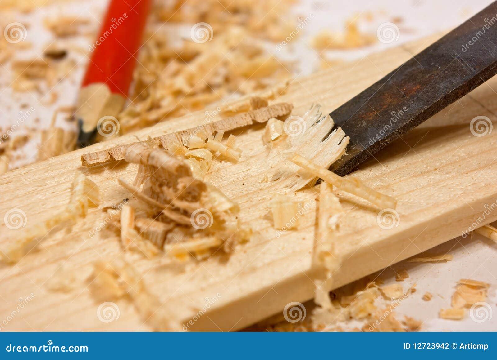Piastra dello scalpello della segatura e di legno for Planimetrie della casetta di legno