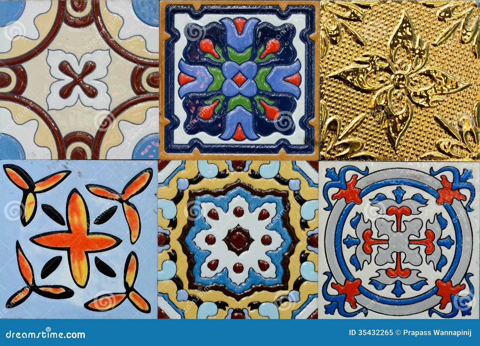 Piastrella di ceramica marocchina dell annata di stile di spanich