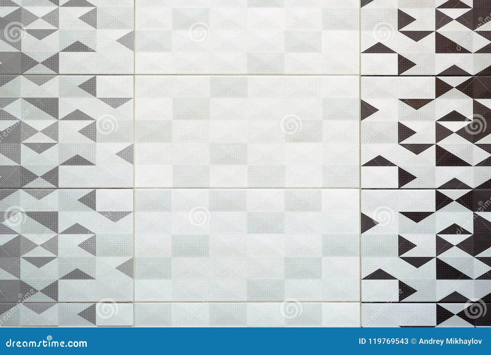 Piastrella di ceramica struttura grigio senza cuciture quadrato