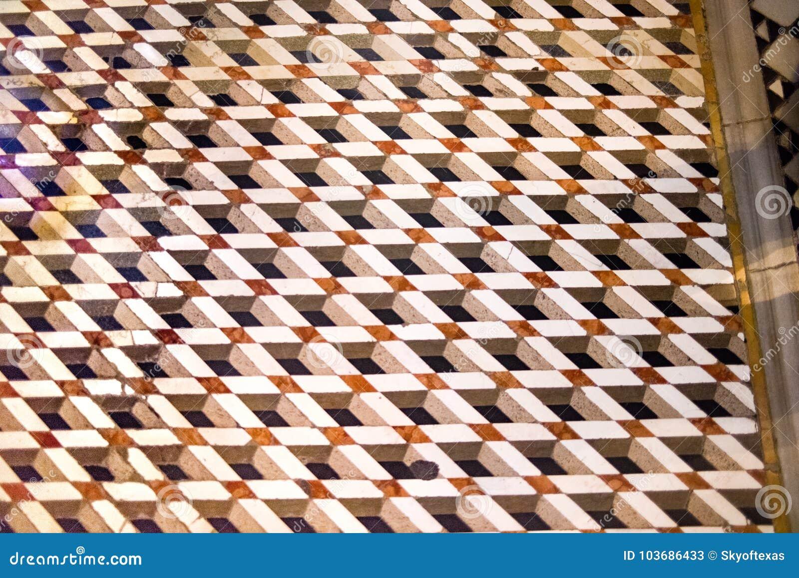 Piastrella per pavimento del tipo di escher del mosaico dentro la