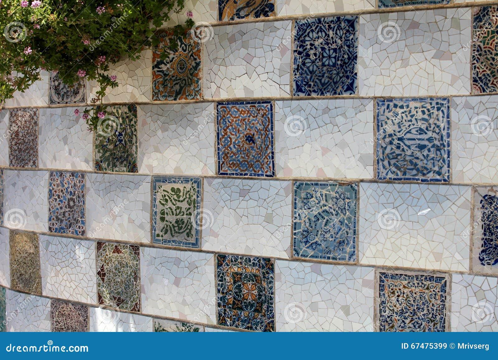 Piastrellato nellarte marocchina della via di stile immagine stock