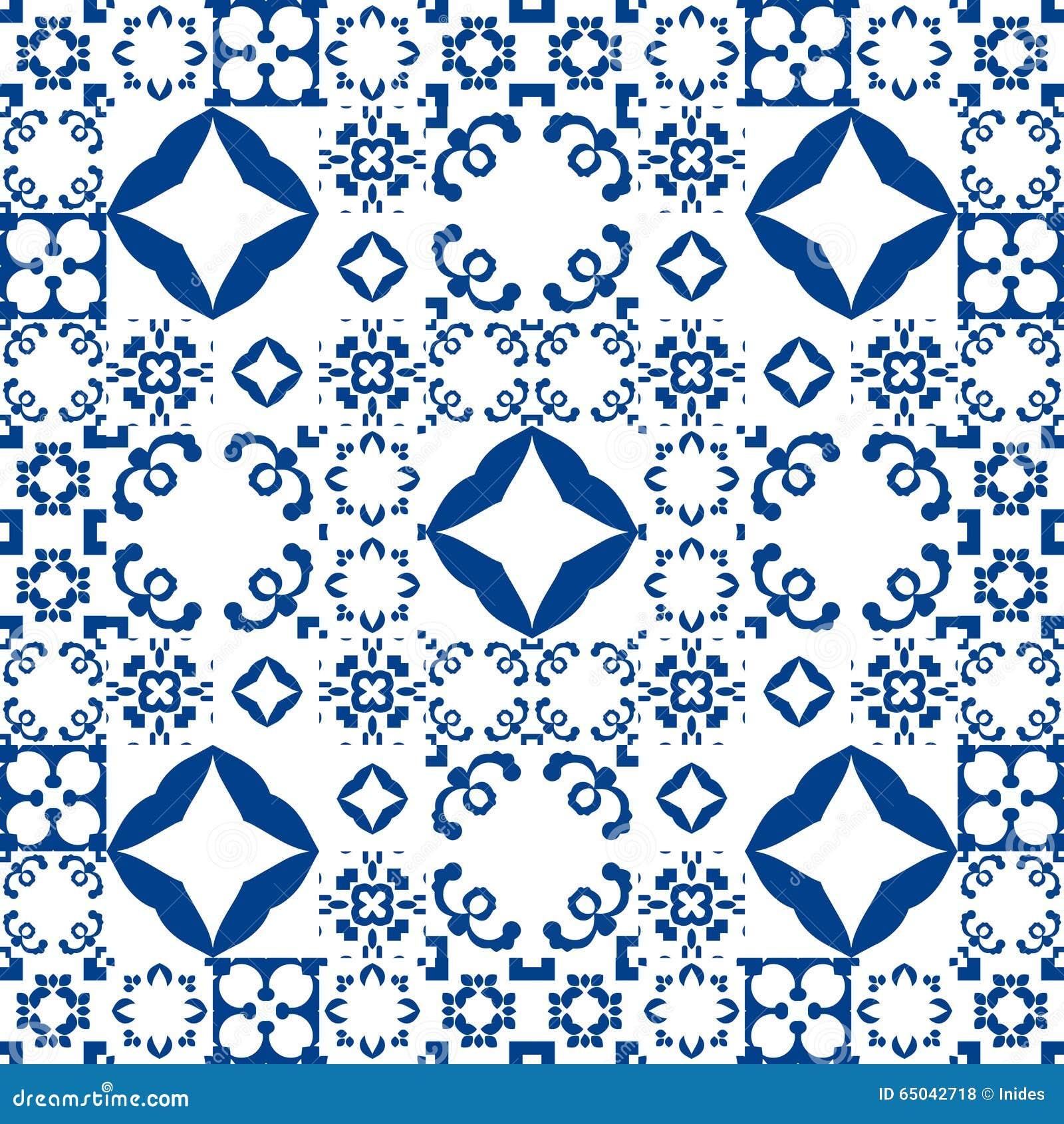 piastrelle di ceramica blu e bianche stile della