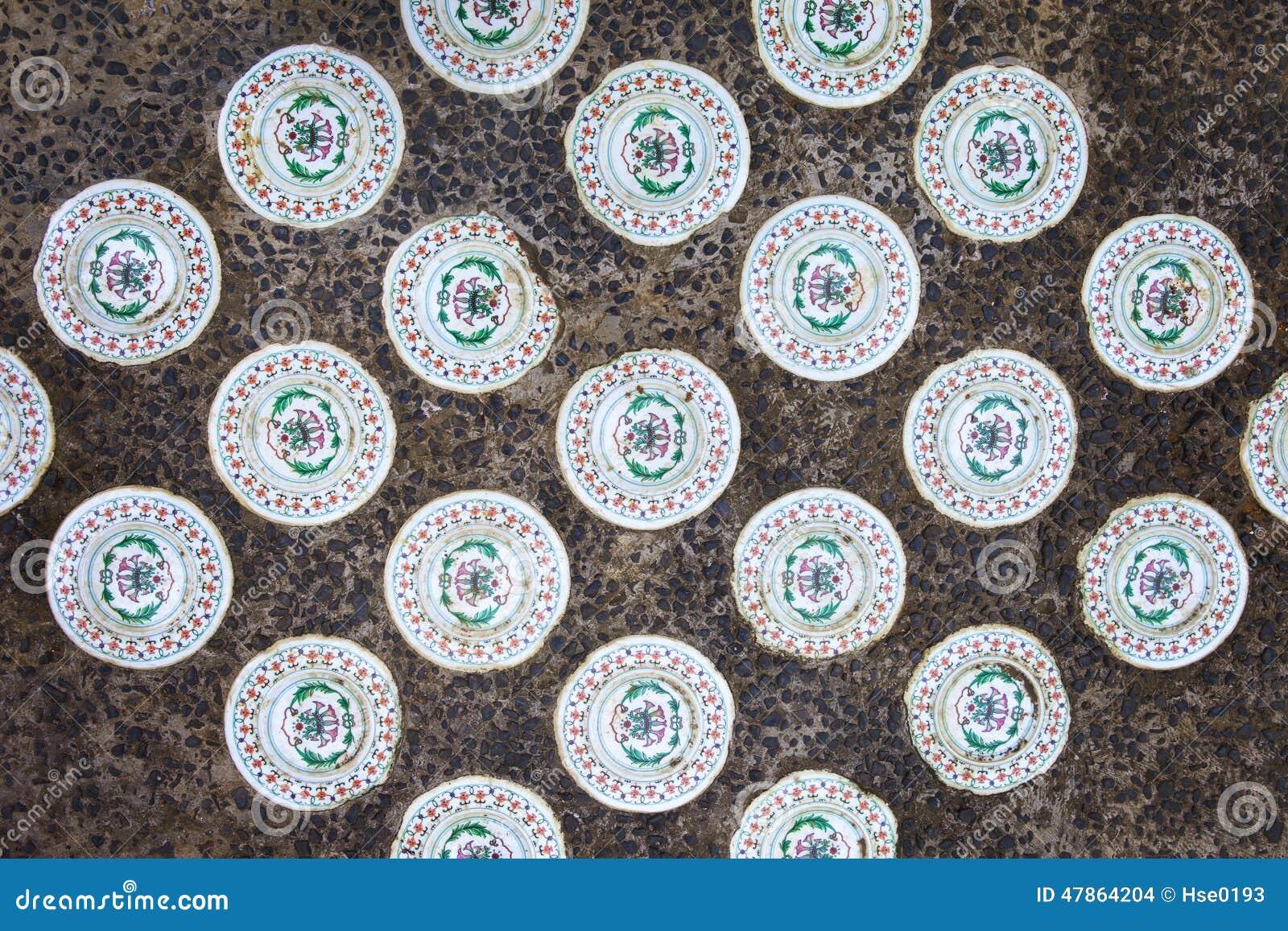Piastrelle di ceramica cinesi fotografia stock immagine di cerchio