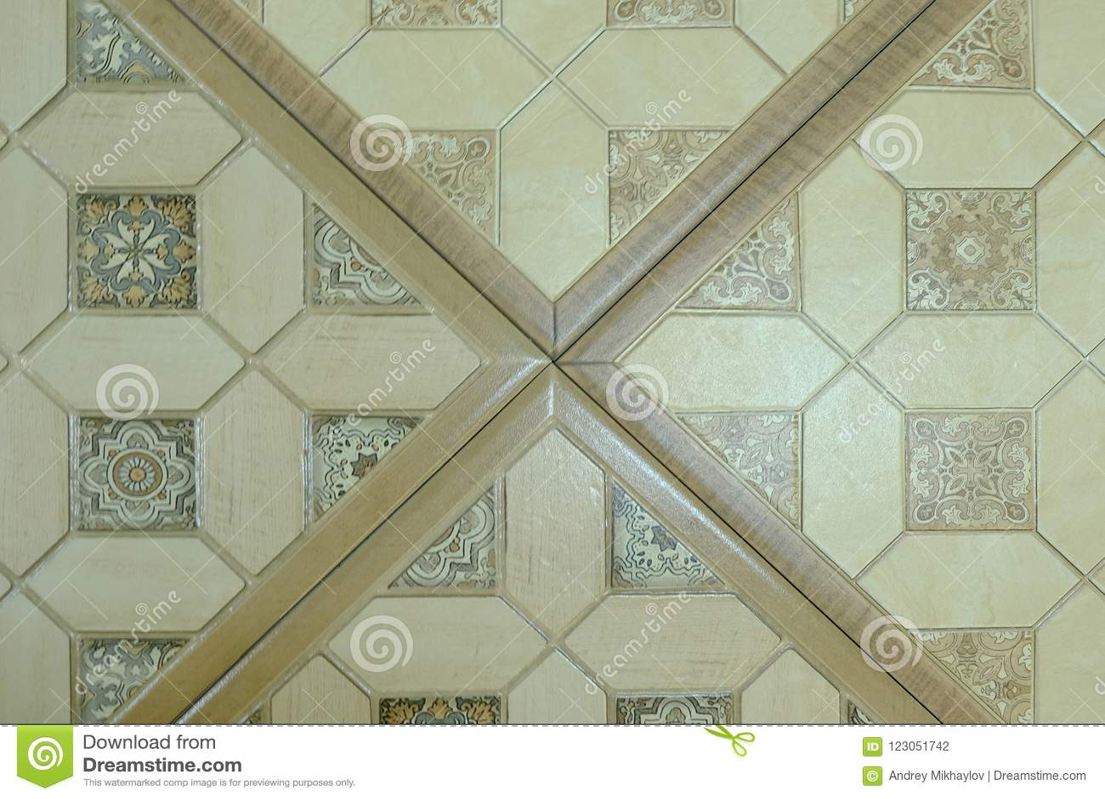 Piastrelle Cucina Con Mosaico.Piastrelle Di Ceramica Con Gli Ornamenti Mosaico Piastrelle