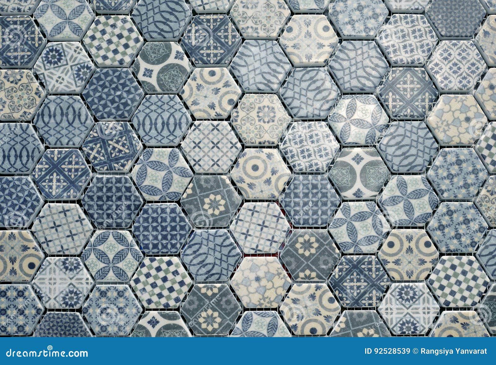 Piastrelle di ceramica esagonali immagine stock immagine di