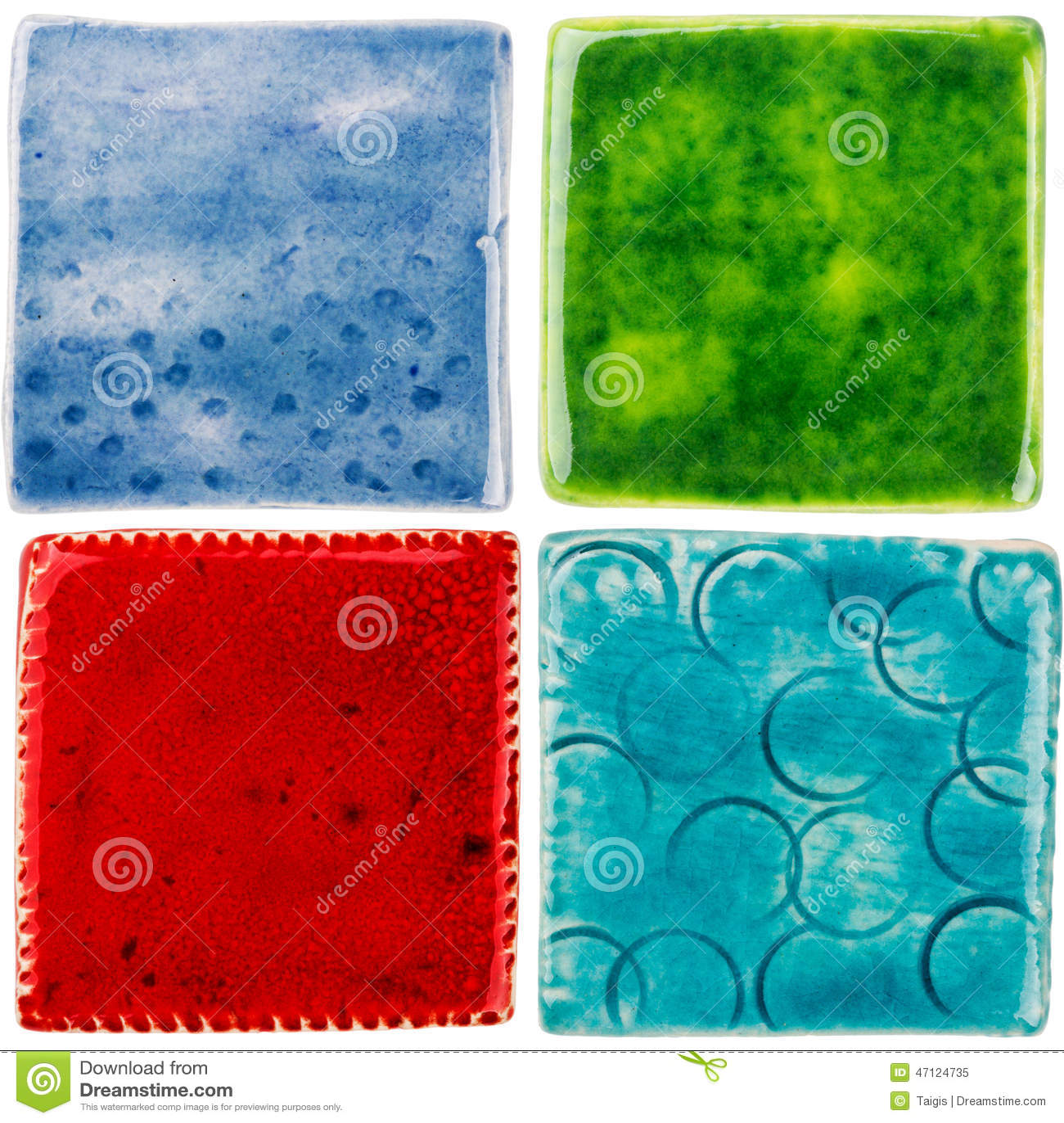Piastrelle Di Ceramica Fatte A Mano Fotografia Stock