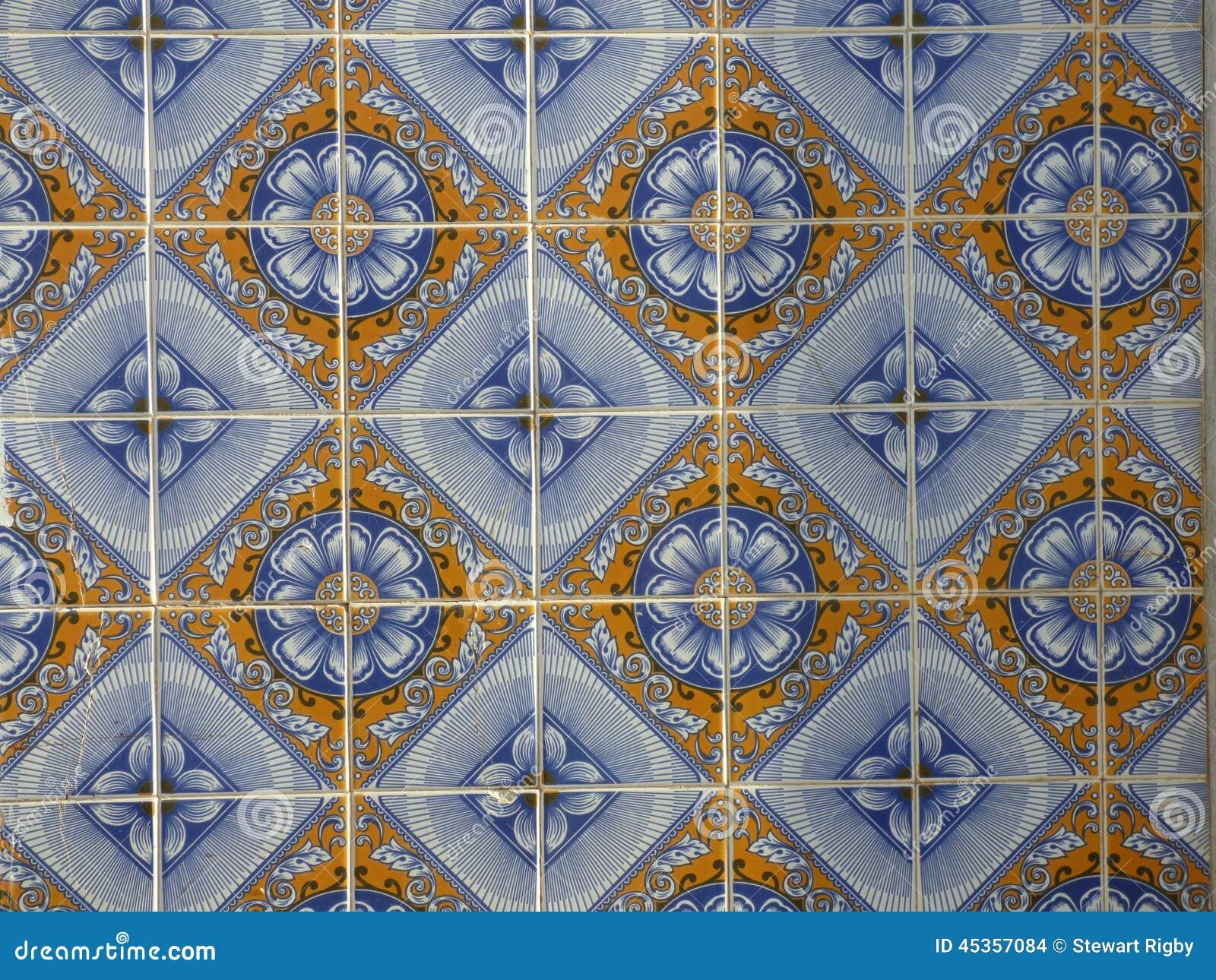 Piastrelle di ceramica portoghesi tradizionali fotografia - Piastrelle di ceramica ...
