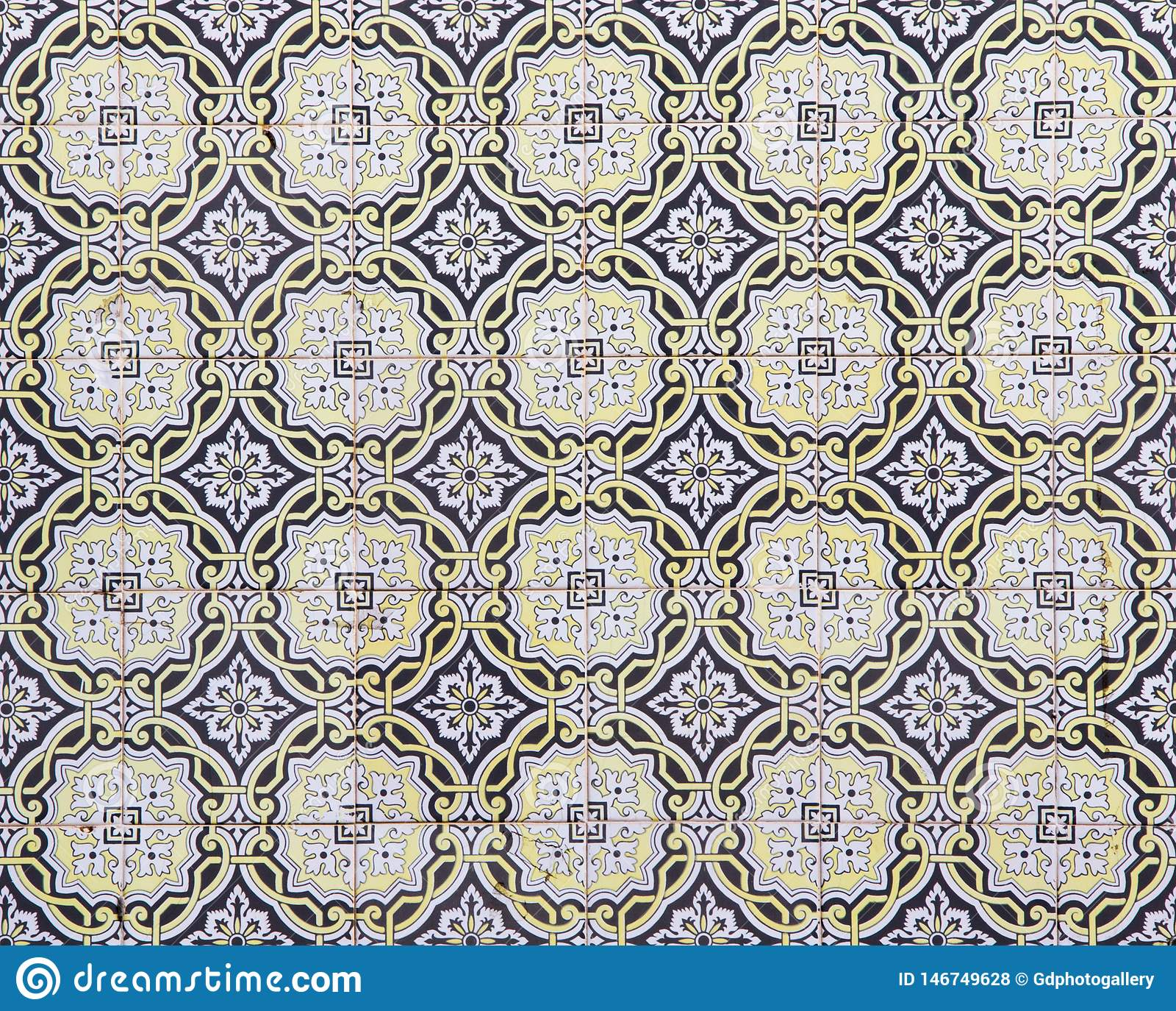 Piastrelle di ceramica portoghesi tradizionali, modello