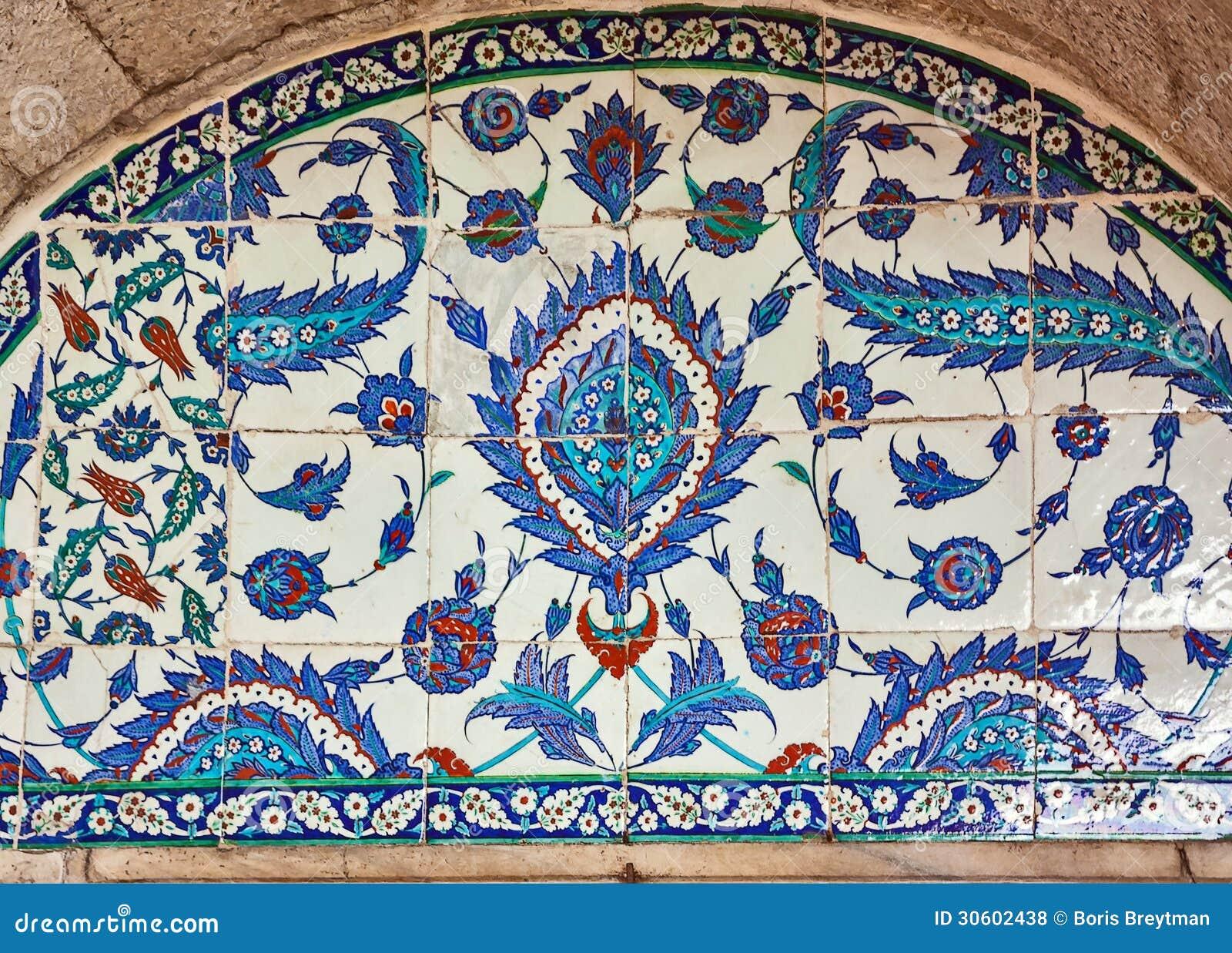 Piastrelle di ceramica turche costantinopoli fotografia stock