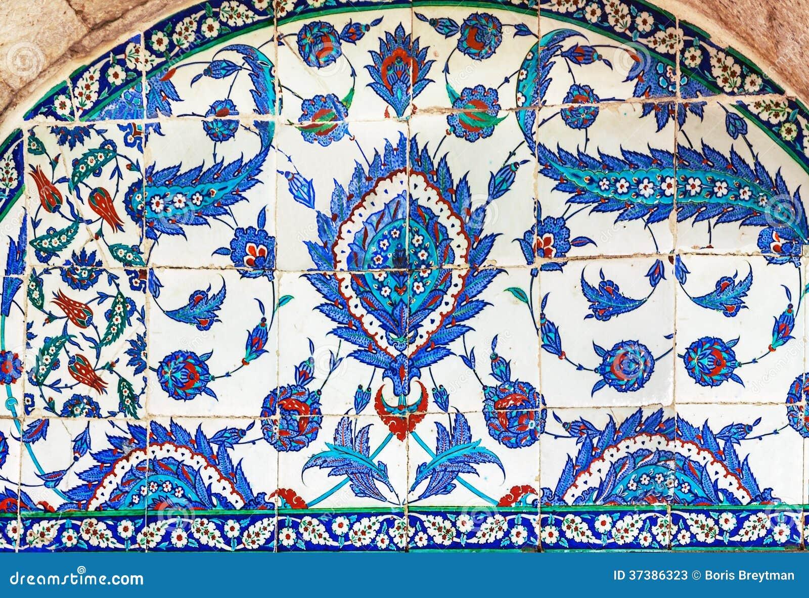 Piastrelle di ceramica turche costantinopoli immagine stock