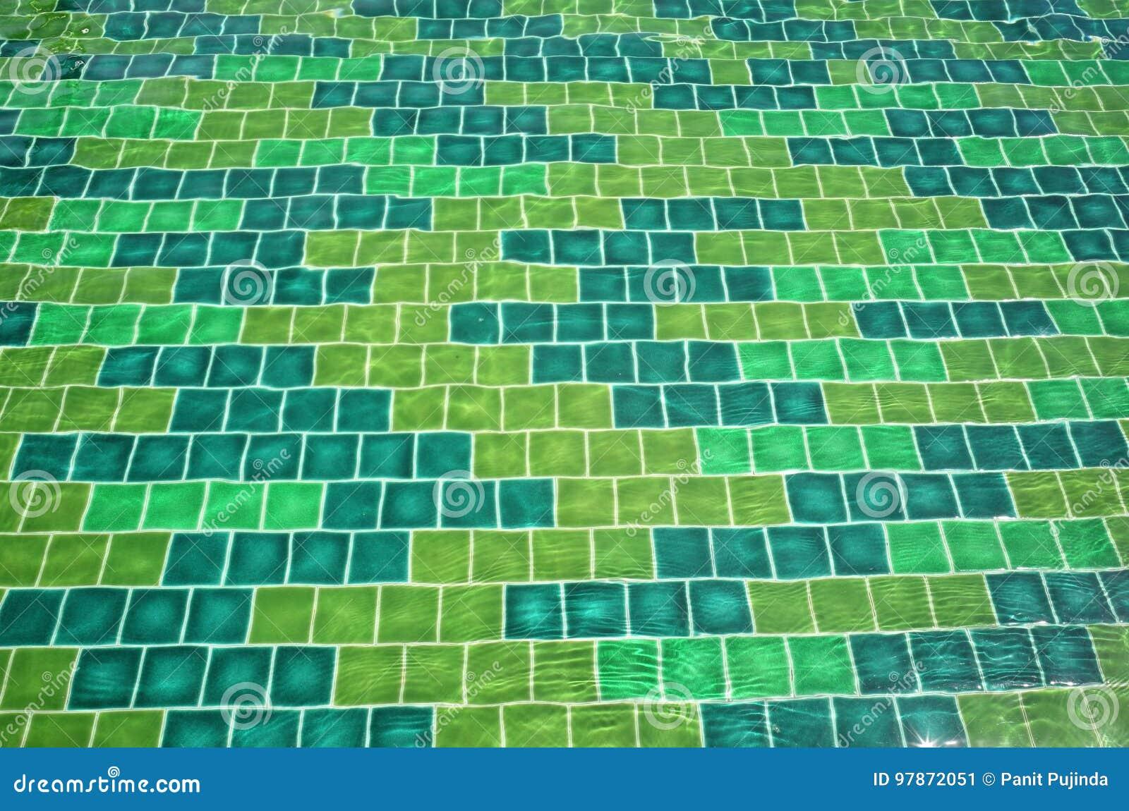 Mattonelle verdi di mosaïc illustrazione di stock illustrazione