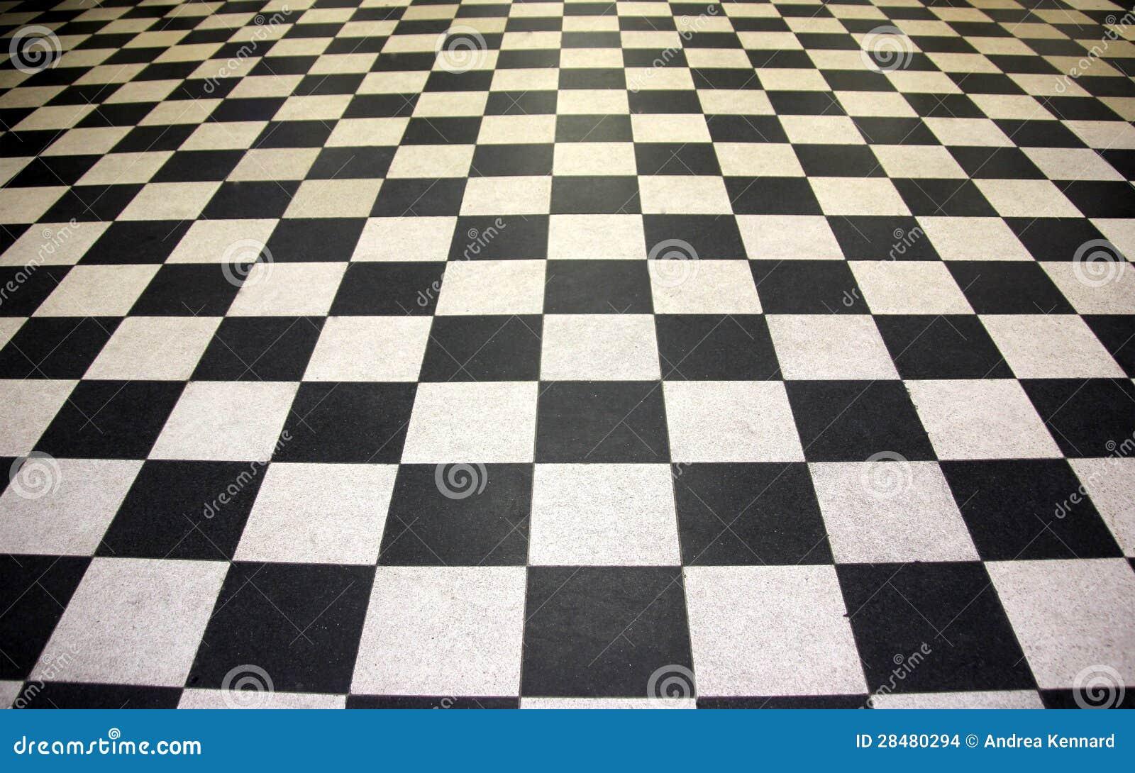 Piastrelle per pavimento in bianco e nero fotografia stock for Pavimento bianco e nero