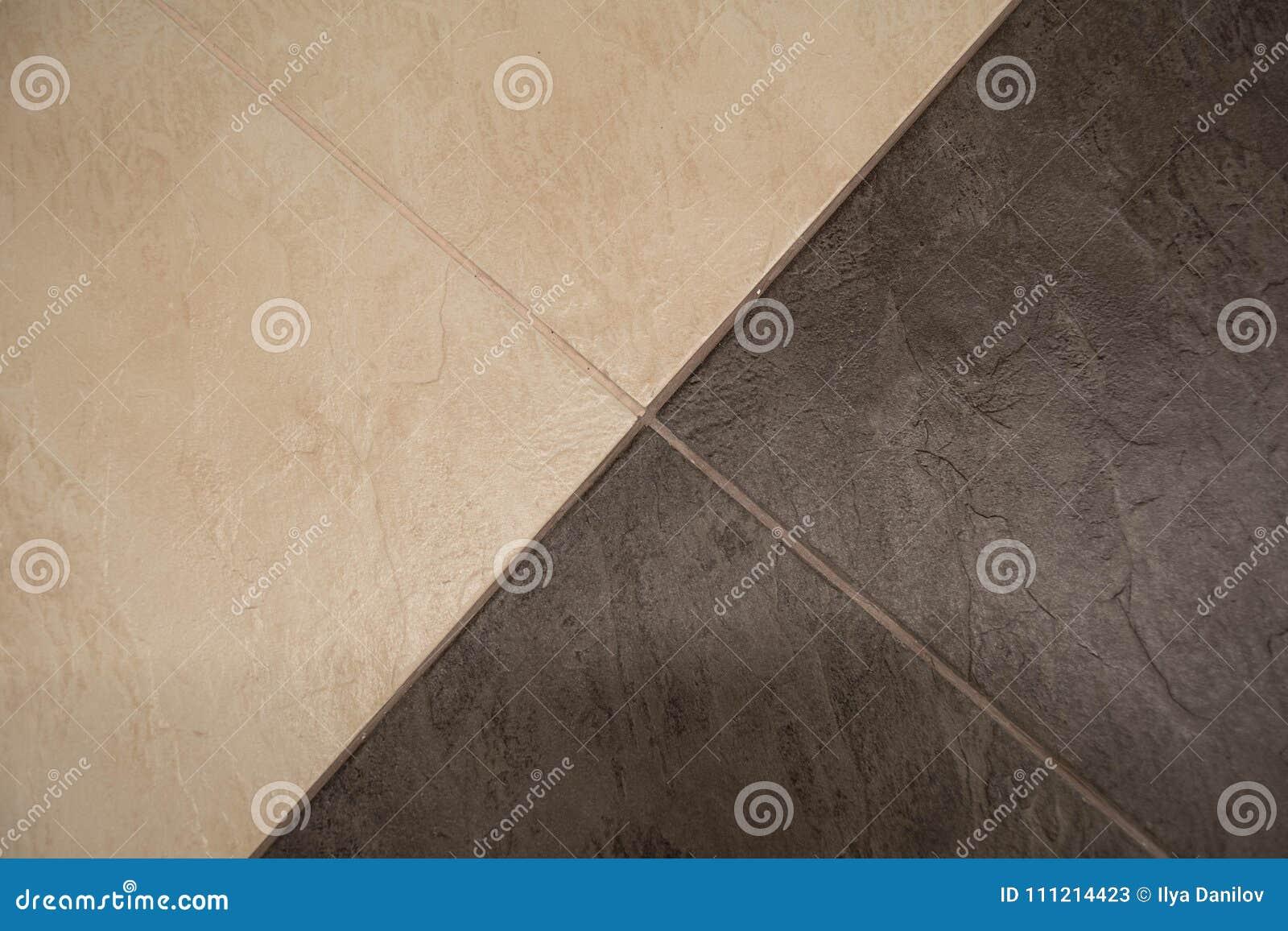Piastrelle per pavimento ceramiche per struttura immagine stock