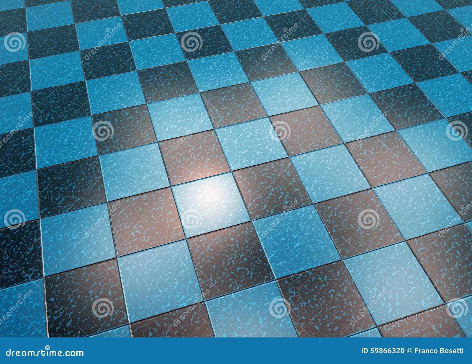 Piastrelle per pavimento di marmo blu illustrazione di stock