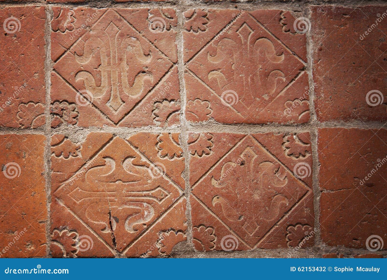 Piastrelle per pavimento medievali fotografia stock immagine di