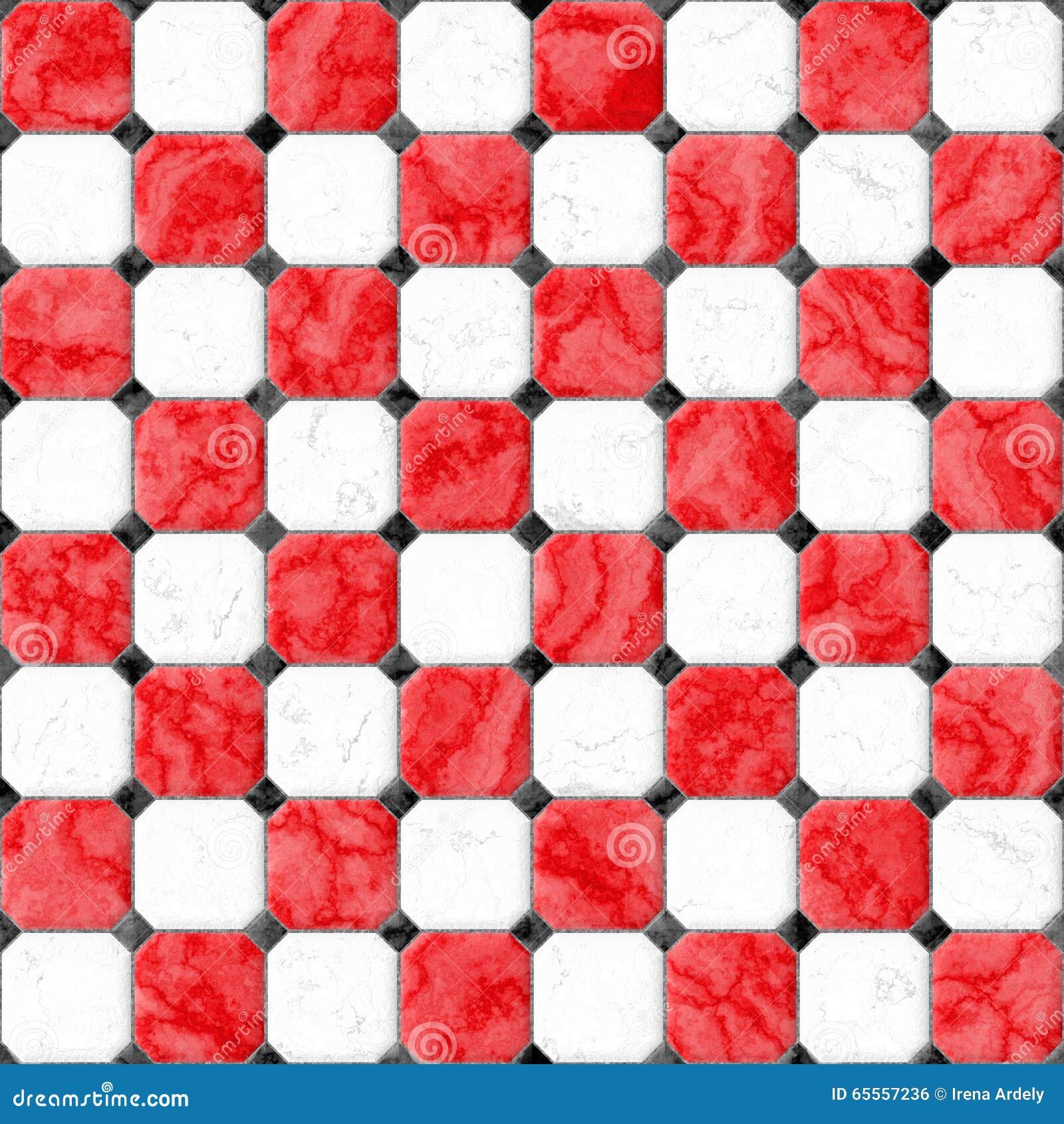 Piastrelle per pavimento quadrate di marmo bianche rosse for Piastrelle bianche marmo