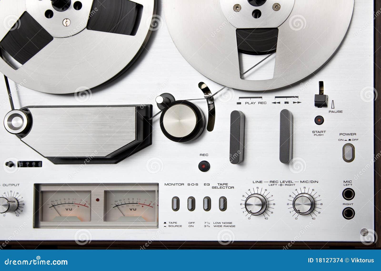 Piattaforma bobina a bobina del registratore di nastro dell annata