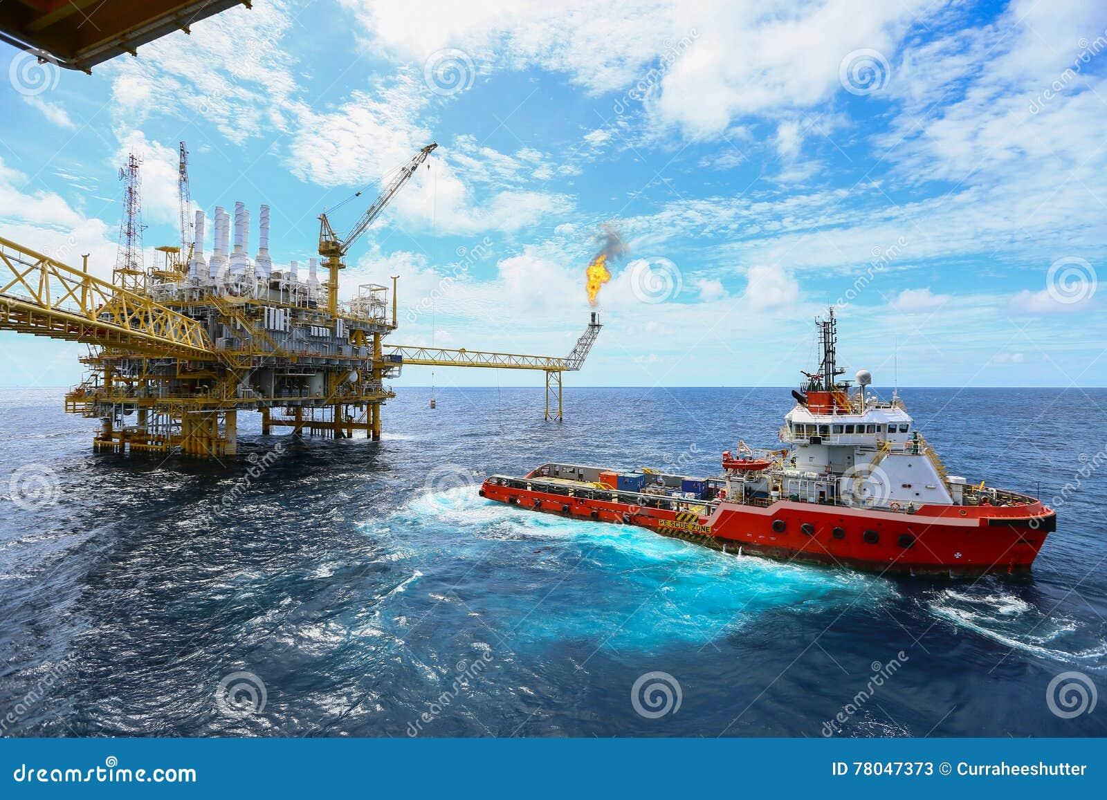 Piattaforma offshore della costruzione per il petrolio e gas di produzione, olio e industria del gas e duro lavoro, piattaforma d