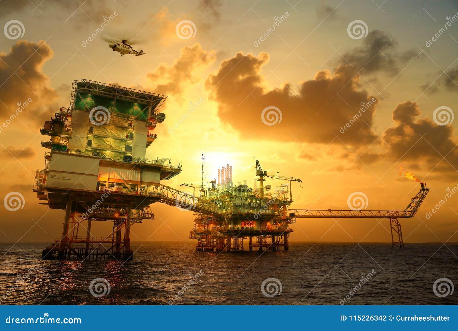 Piattaforma offshore della costruzione per il petrolio ed il gas di produzione Olio e industria del gas e duro lavoro Piattaforma