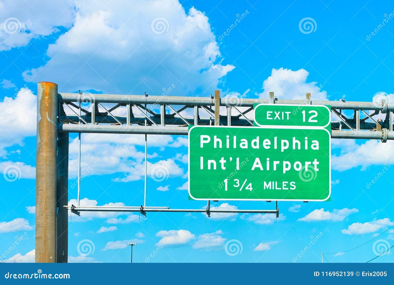 Piatto dell indicatore dell aeroporto internazionale di Filadelfia