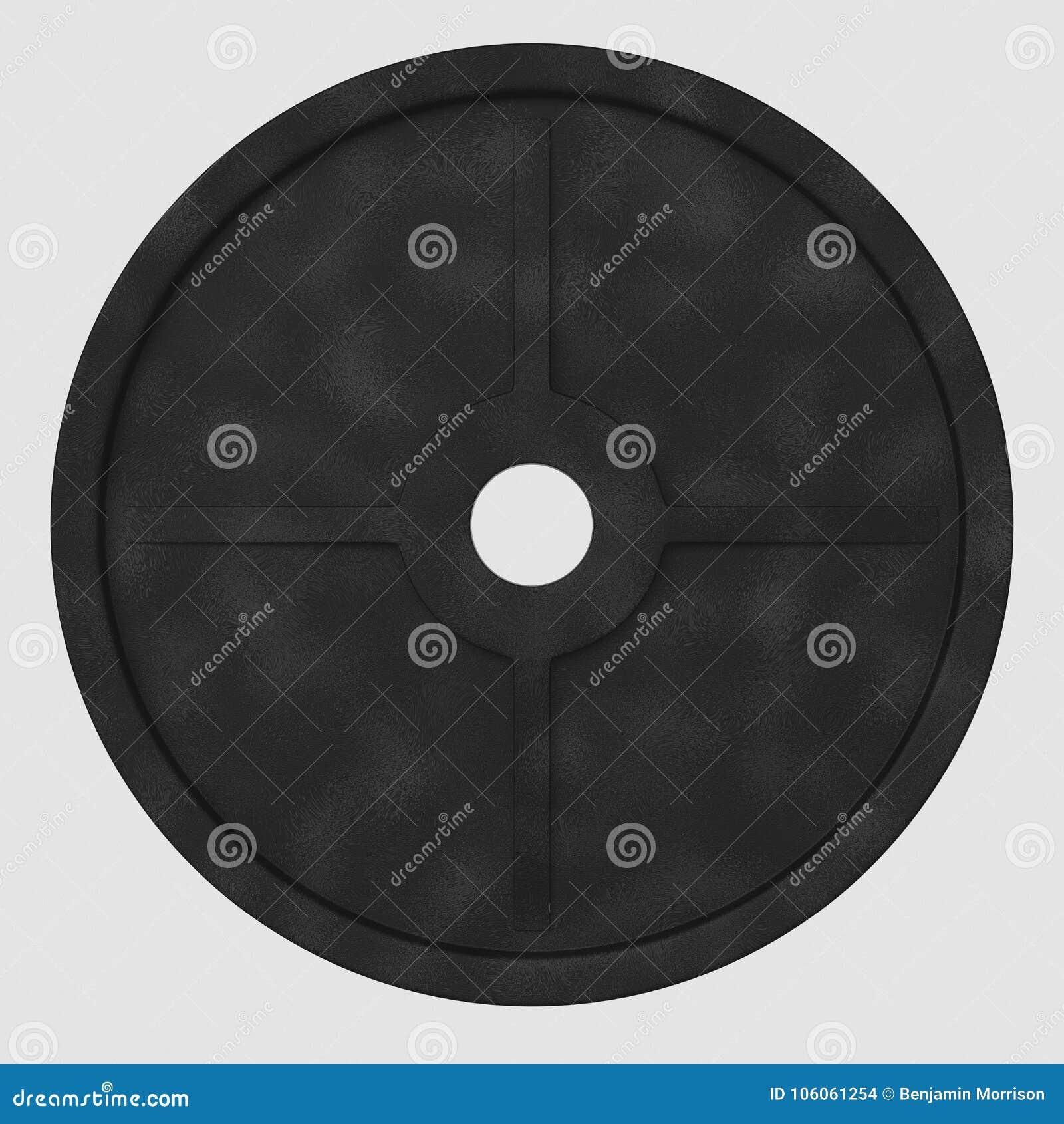 Piatto di galleggiamento isolato del peso del ferro su un fondo bianco