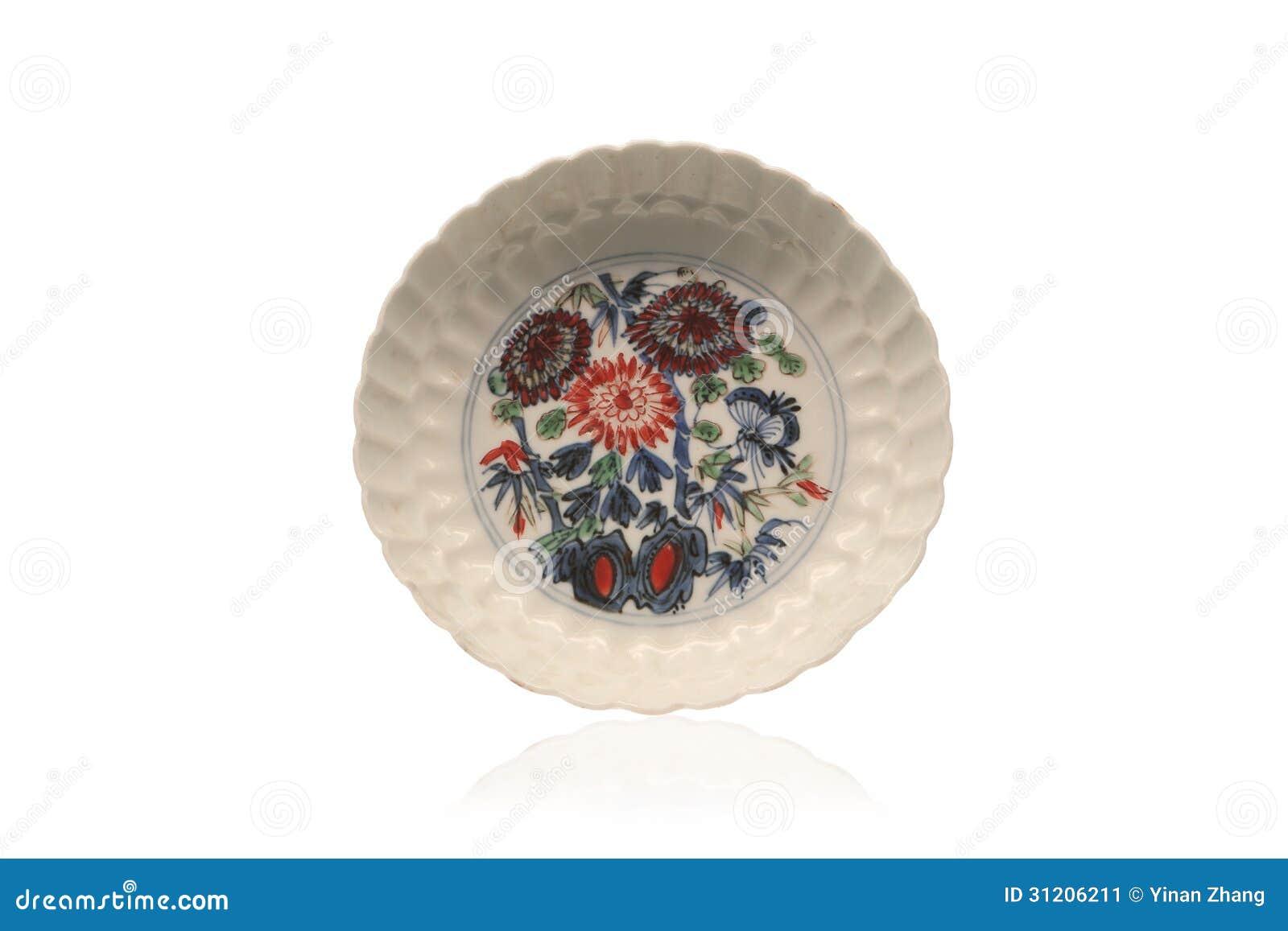 Piatto di porcellana antico cinese immagine stock for Piatto cinese