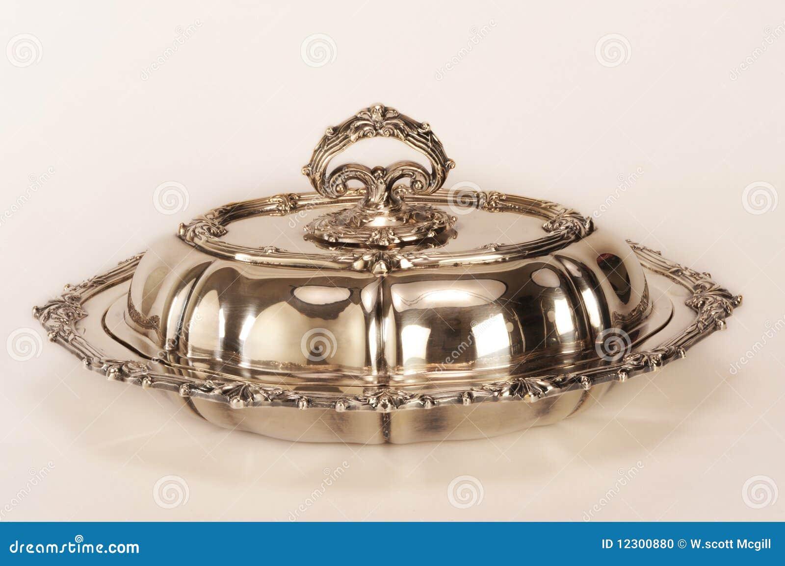 Piatto di servizio d argento