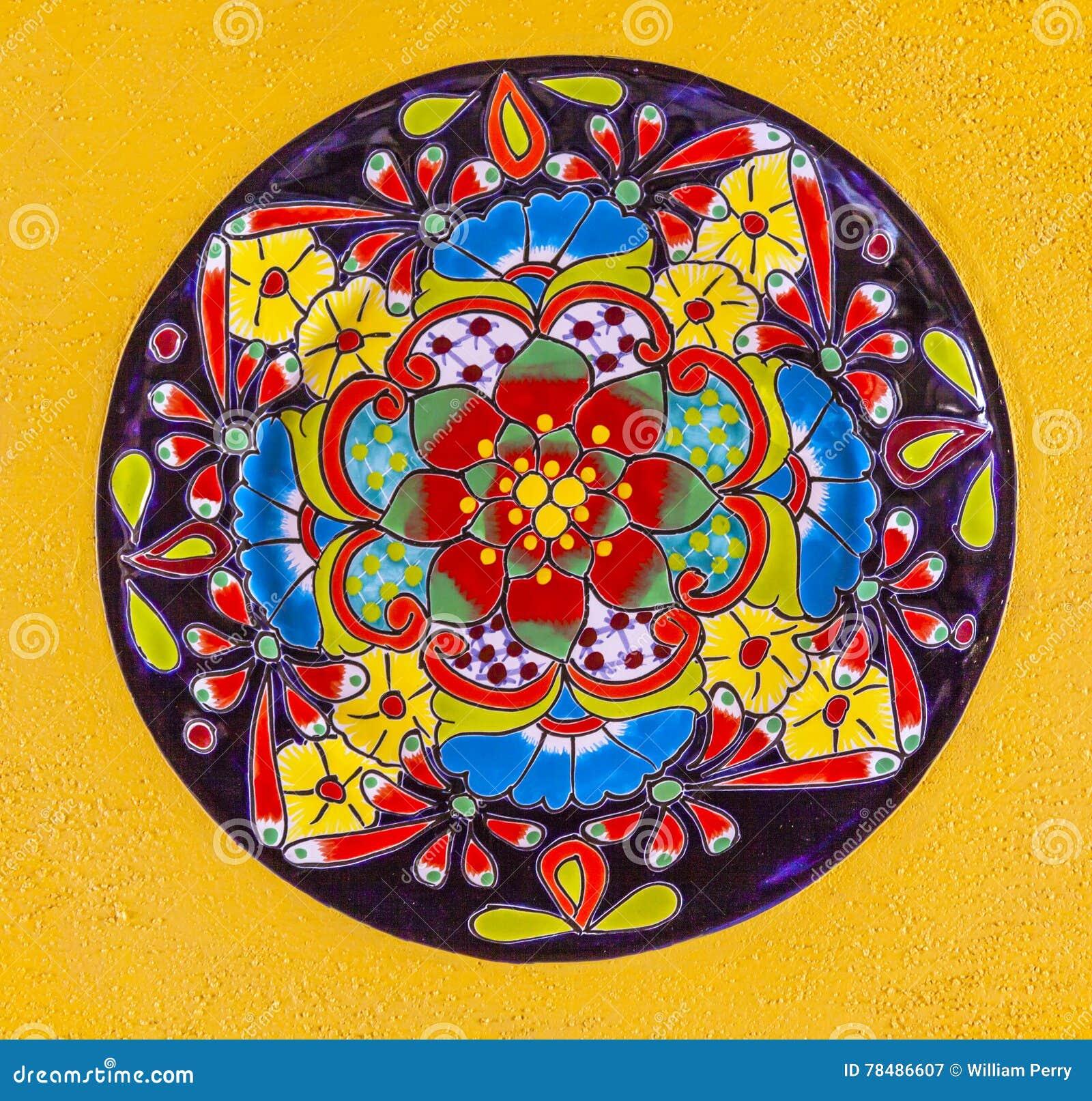 Piatto messicano ceramico variopinto Guanajuato Messico