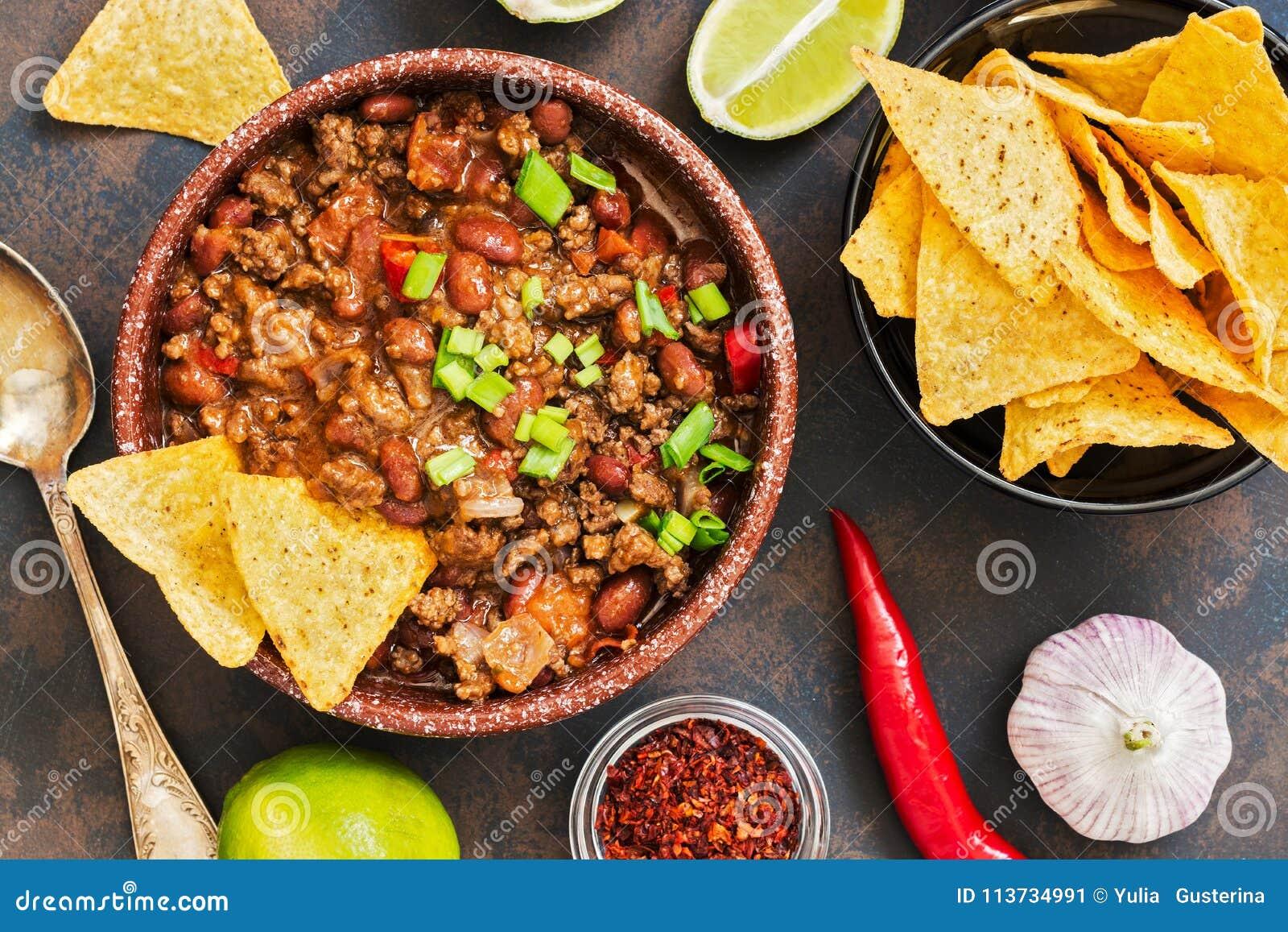 on sale f3f3d 486f6 Piatto Messicano Chili Con Carne Dell'alimento Il Concetto ...