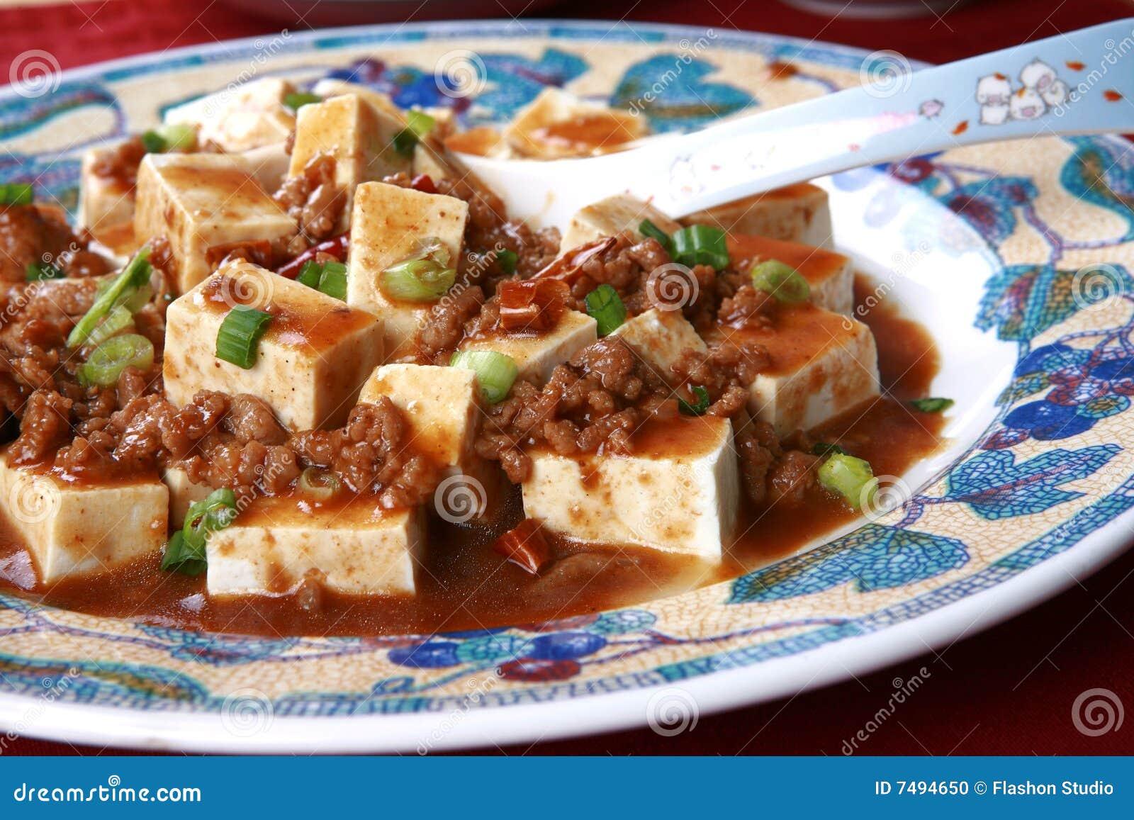 Piatto piccante cinese popolare dal tofu del sichuan for Piatto cinese